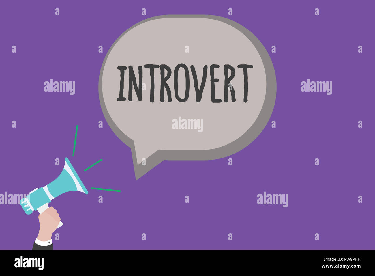 Handwriting text Introvert. Concept meaning tend to be inward turning or focused more internal thoughts. - Stock Image