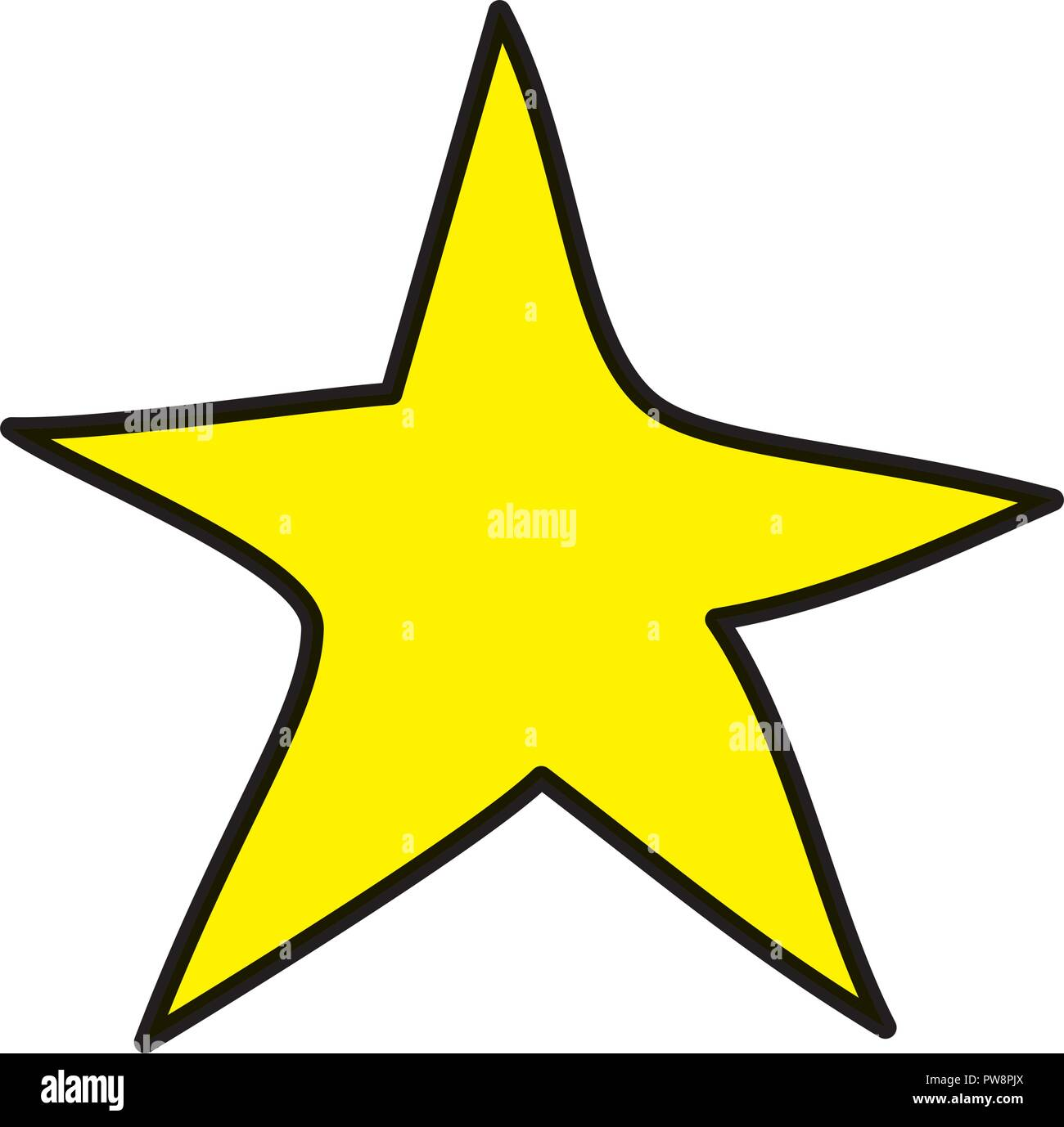 cute star drawing icon - Stock Image