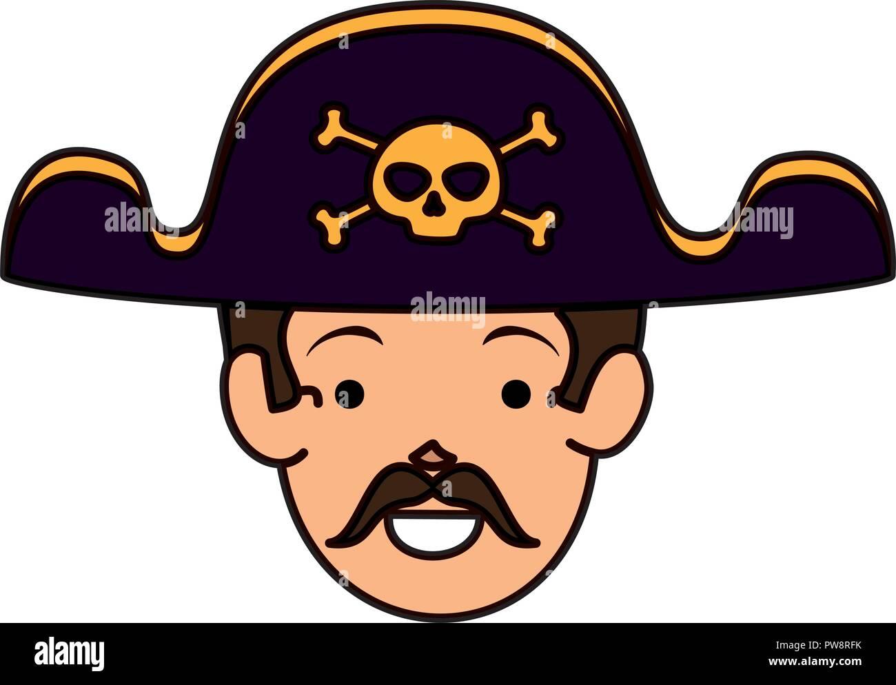 1×Kids Halloween Pirate Skull /& Crossbones Sea Ship Captain Hat Eye Patch Beard