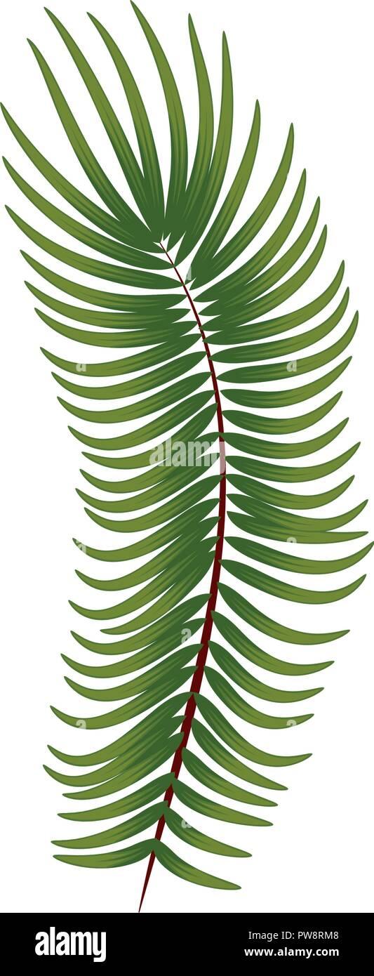 pine branch christmas icon - Stock Vector