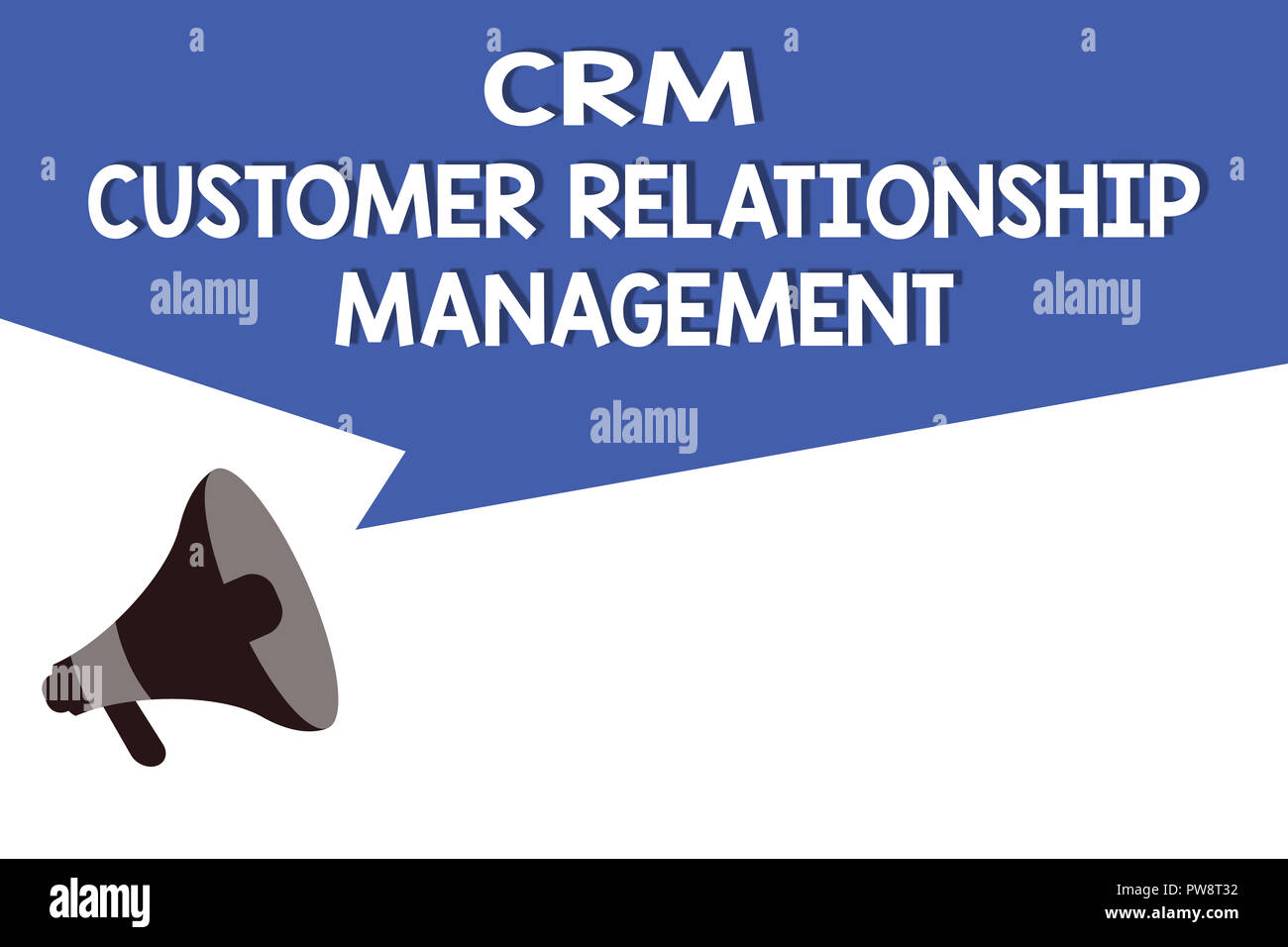 Handwriting text Crm Customer Relationship Management. Concept meaning Manage and analyze customer interaction. - Stock Image