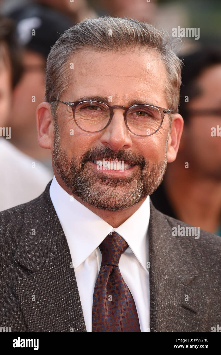 LONDON, UK. October 13, 2018: Steve Carell at the London Film Festival screening of 'Beautiful Boy' at the Cineworld Leicester Square, London. Picture: Steve Vas/Featureflash Credit: Paul Smith/Alamy Live News - Stock Image