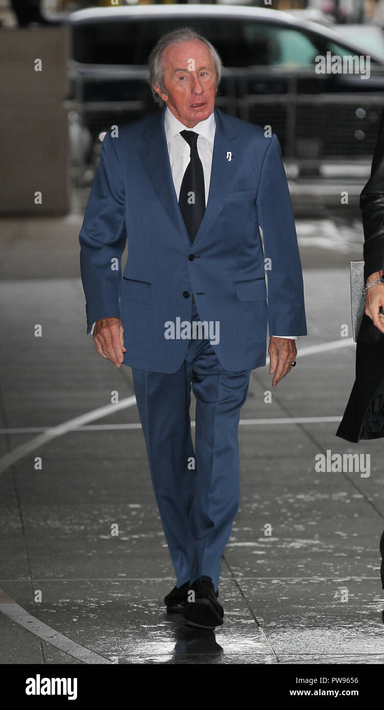 London, UK, Oct 14th 2018: Sir Jackie Stewart seen arriving for the BBC Andrew Marr show at the BBC studios in London. Credit: WFPA/Alamy Live News Stock Photo