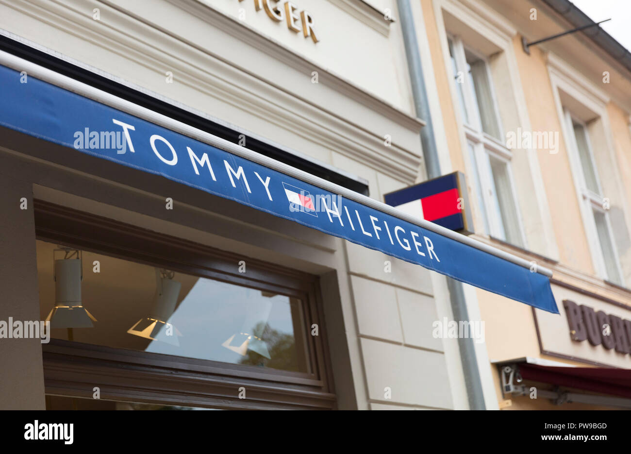 5a9af40c Potsdam, Berlin, Europe: 20th August 2018: Tommy Hilfiger store sign - Stock