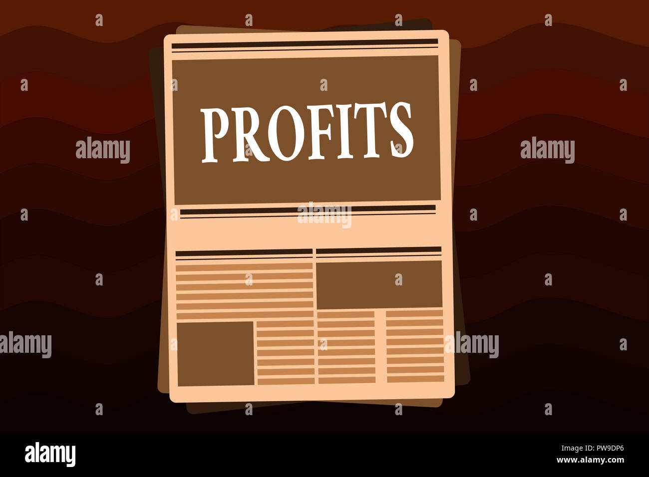 Handwriting text Profits. Concept meaning Financial gain Difference between amount earned and spent Income. - Stock Image