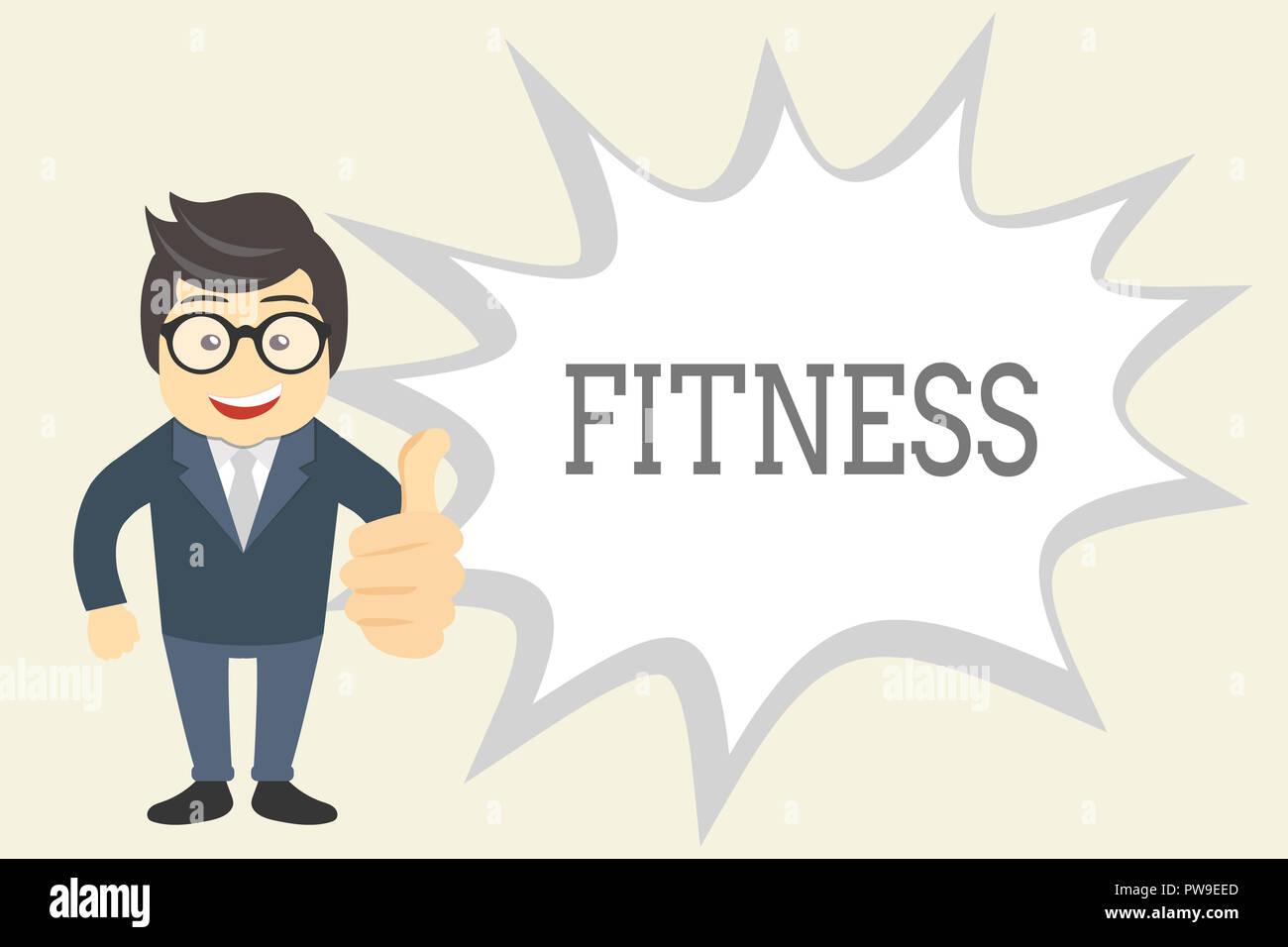 Handwriting text Fitness. Concept meaning Condition physically fit healthy Training Workout Suitable for role. - Stock Image