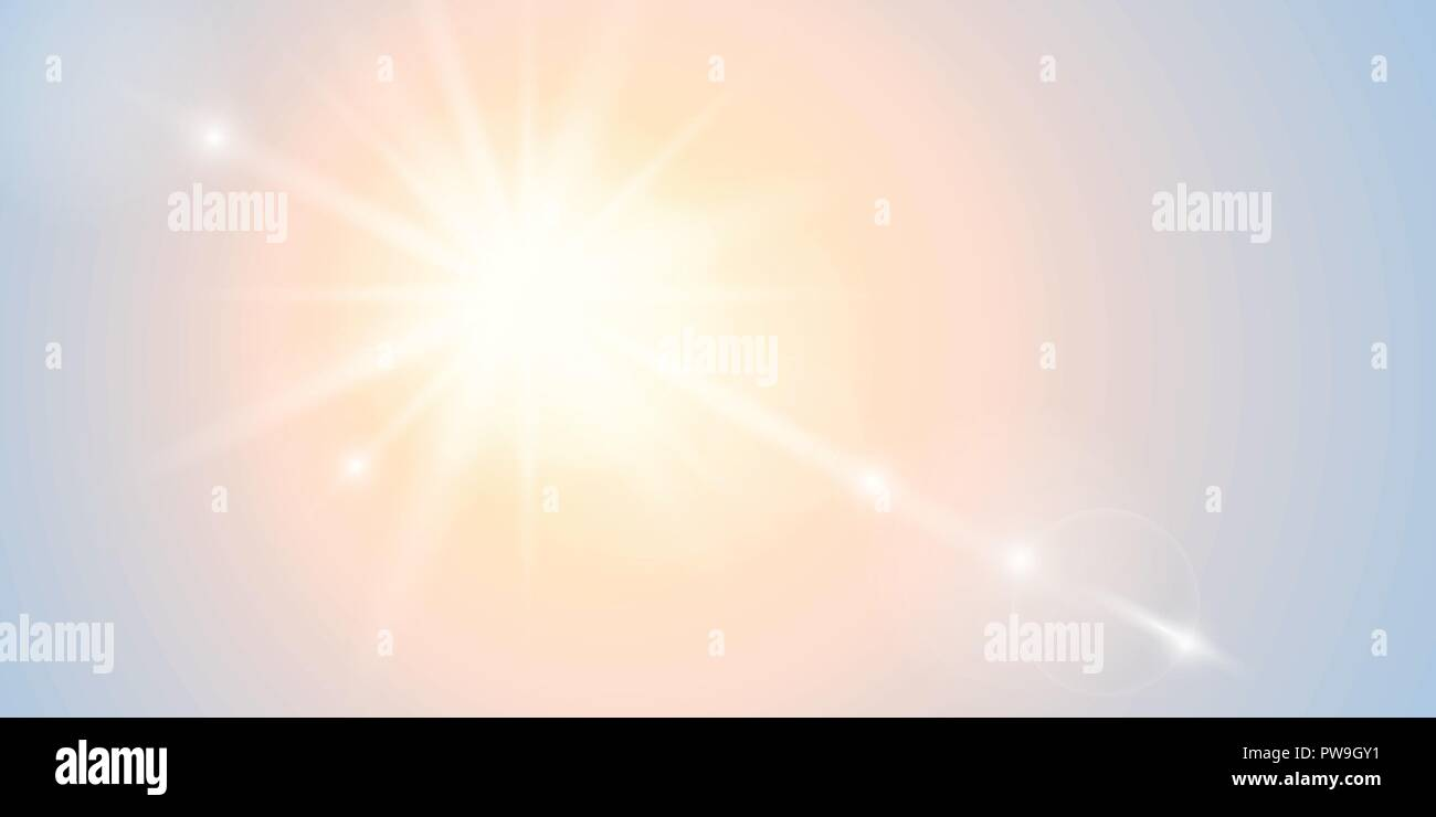 bright sunshine beautiful abstract sunny background vector illustration EPS10 - Stock Vector