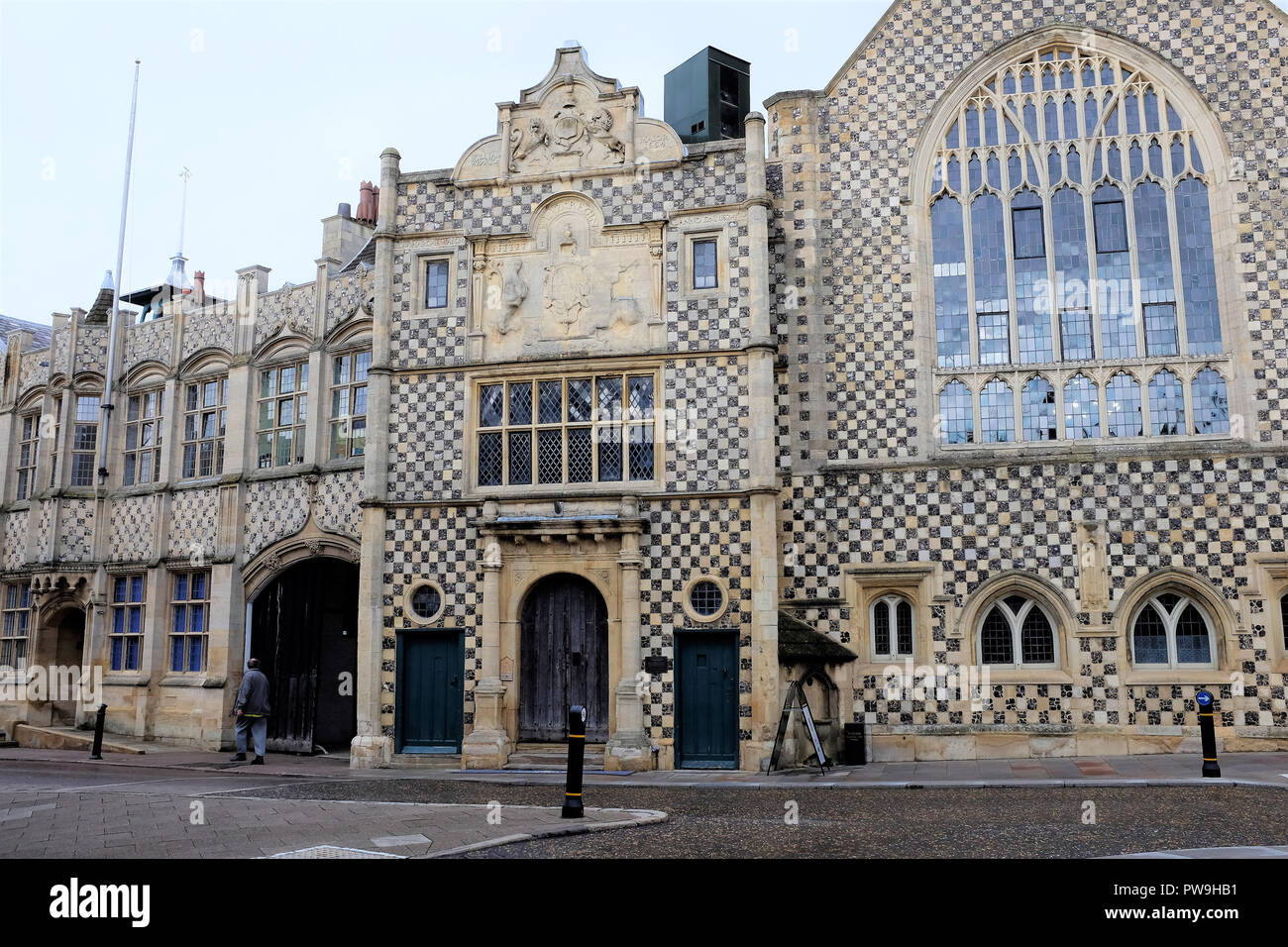Kings Lynn, Norfolk, UK. September 20, 2018.   The Fiftheen century town hall and Guildhall at Kings Lynn in Norfolk, UK. - Stock Image