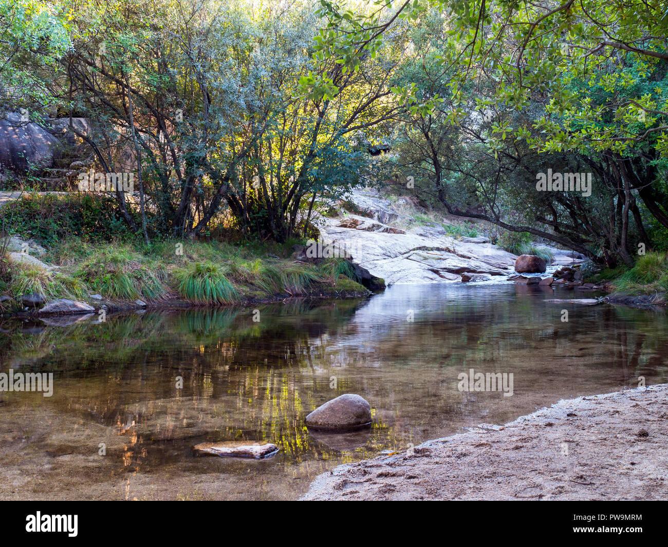 La Pedriza. Manzanares el Real. Sierra de Guadarrama. Madrid. España Stock Photo