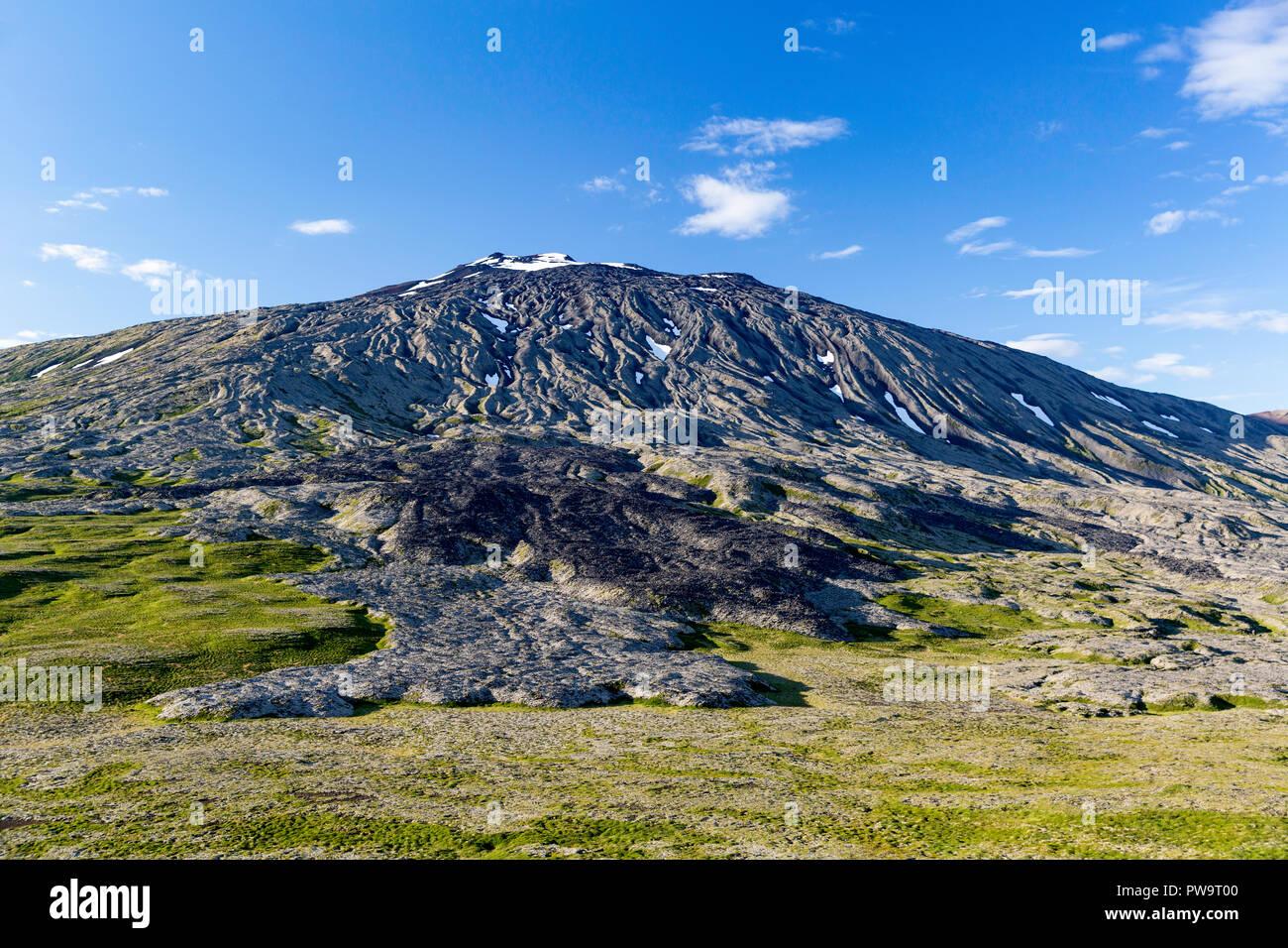 Stratovolcano Snæfellsjökull, Snæfellsnes National Park, Snæfellsnes Peninsula, Iceland - Stock Image