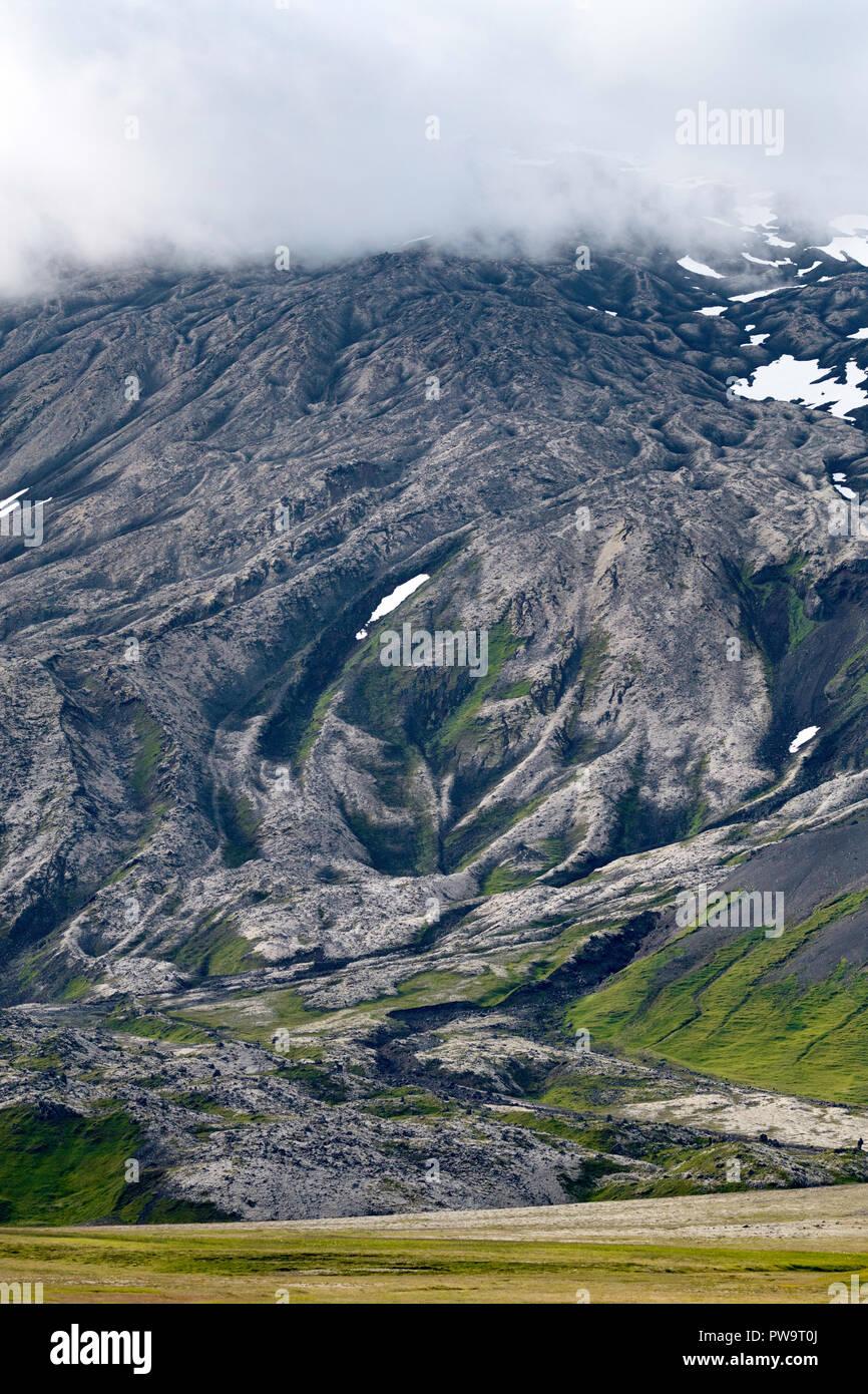 A view of the stratovolcano Snæfellsjökull, Snæfellsnes National Park, Snæfellsnes Peninsula, Iceland - Stock Image