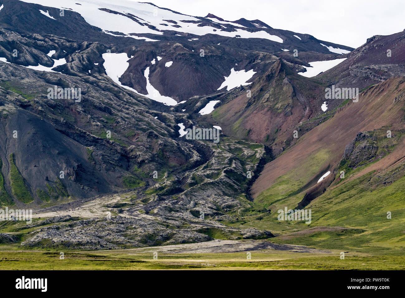 A view of the stratovolcano Snæfellsjökull, Snæfellsnes National Park, Iceland - Stock Image