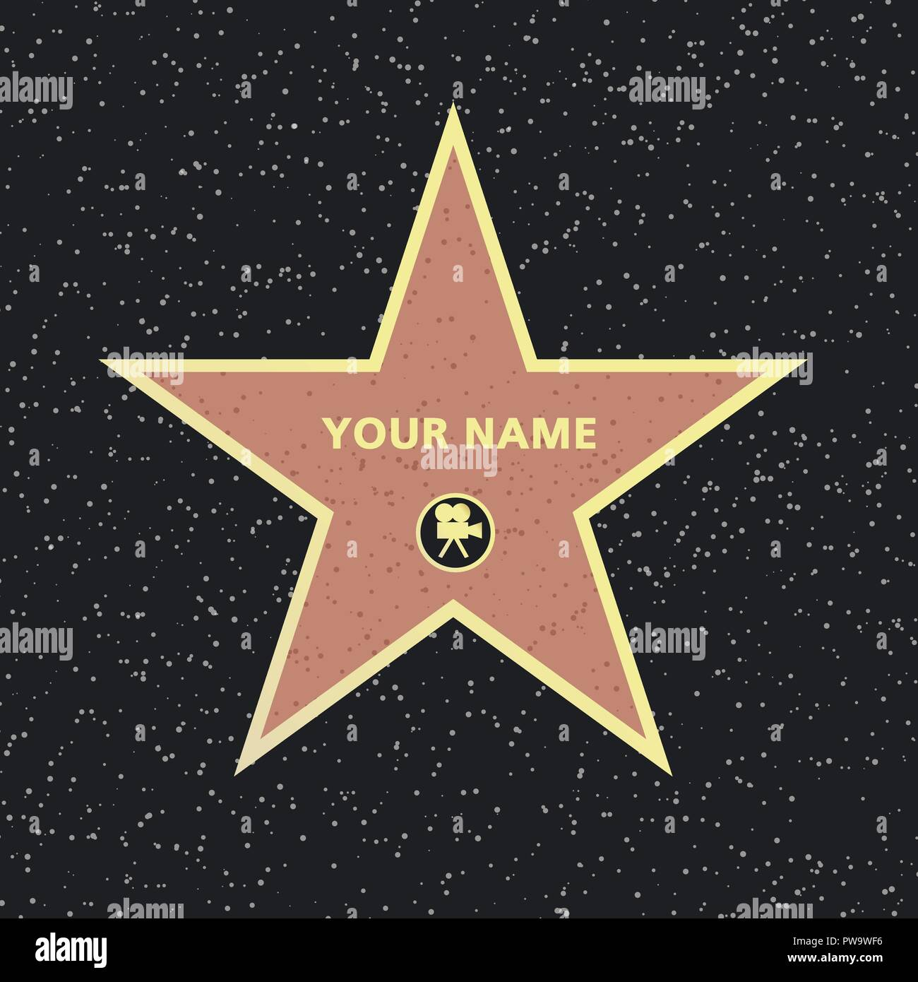 Realistic famous actor star. Vector - Stock Vector