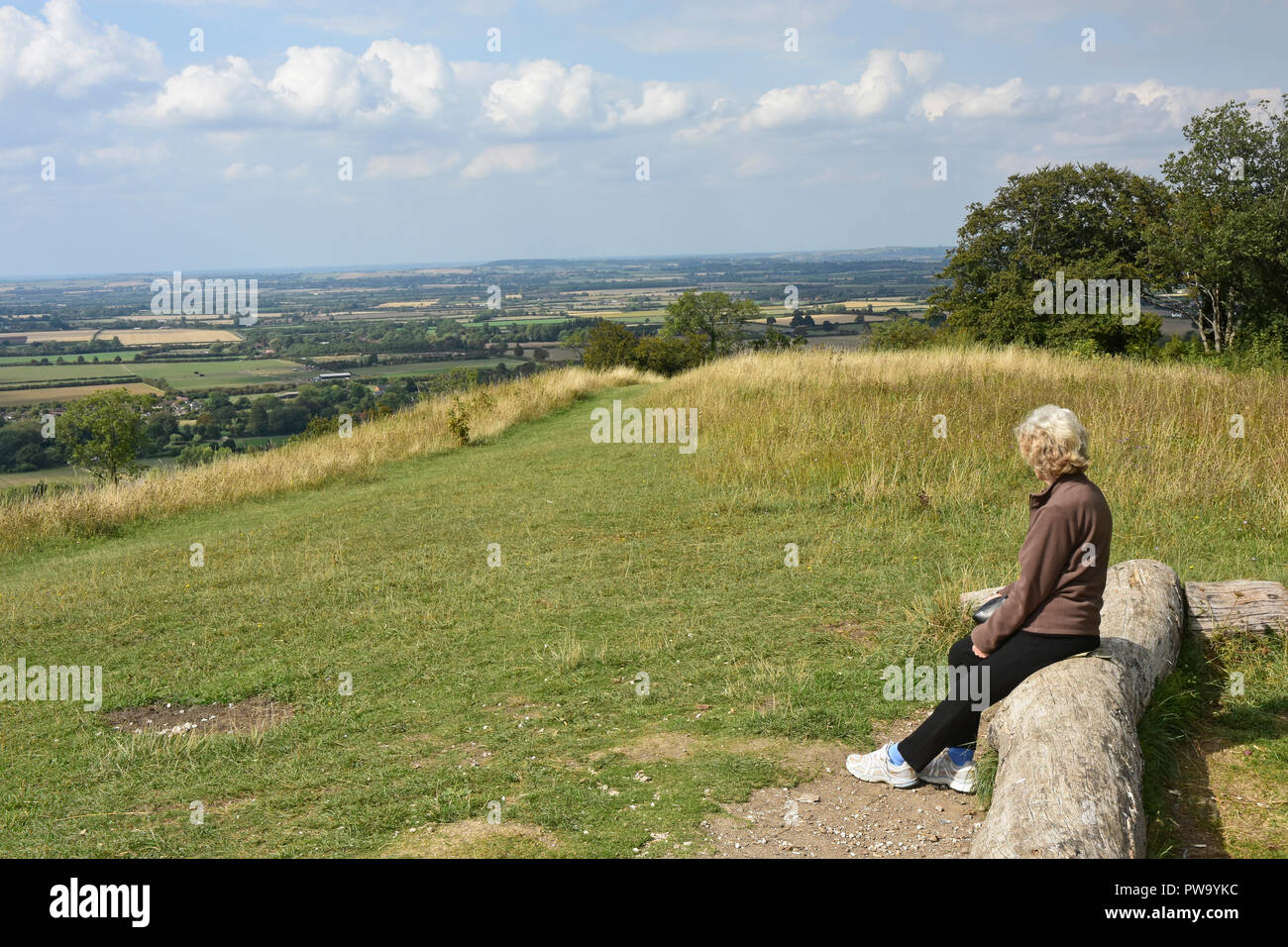 Bucks - Chiltern Hills - on Whiteleaf Hill Stock Photo