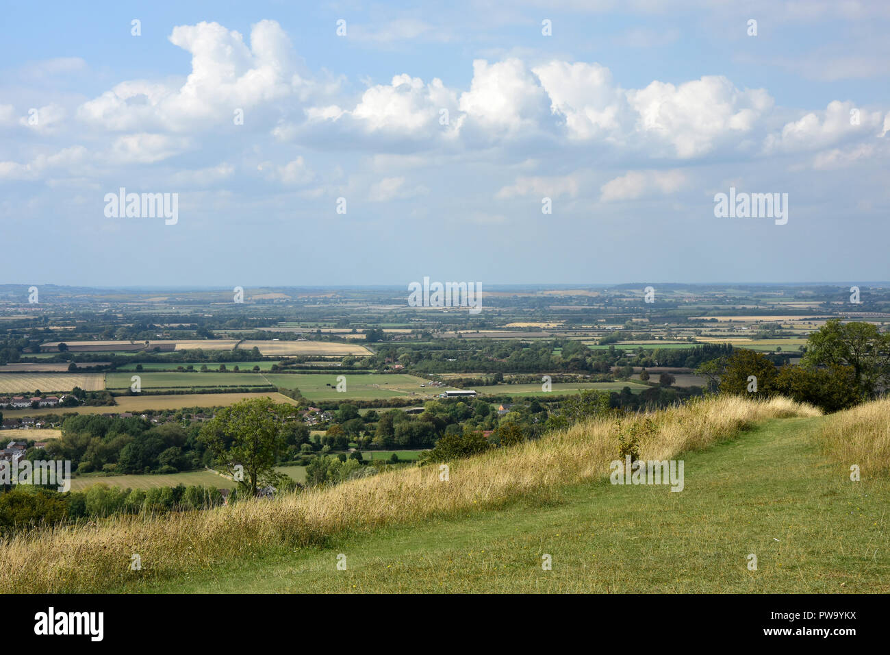 Bucks - Chiltern Hills - scenic view from Whiteleaf Hill - Stock Image