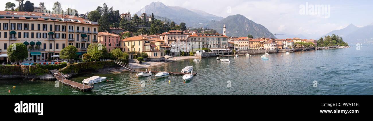 The waterfront town of Menaggio on Lake Como, ItalyStock Photo