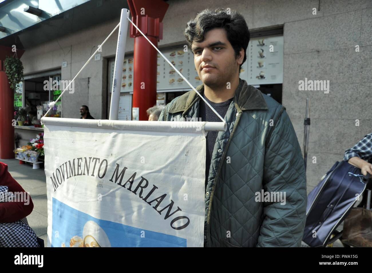 Milan (Italy), demonstration of catholics extremists and neo-fascist party Forza Nuova against the law 194 on abortion. - Stock Image