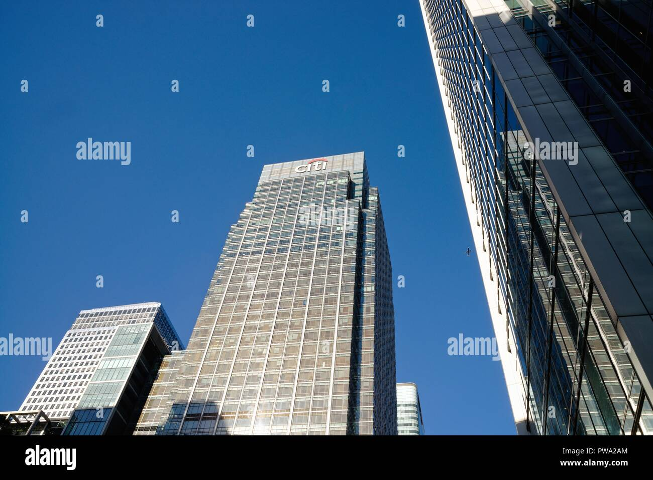 Headquarters of the Citi Bank at Canary Wharf Docklands London England UK - Stock Image