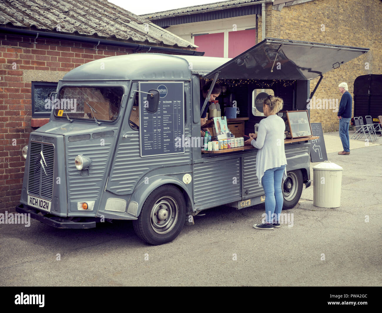 Citroen H Van Food Truck Stock Photo Alamy