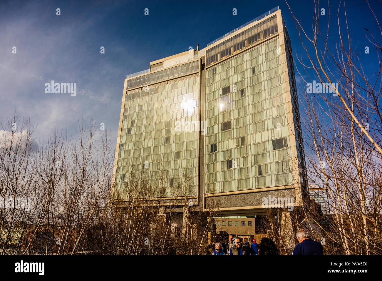 The Standard Hotel Manhattan _ New York, New York, USA - Stock Image