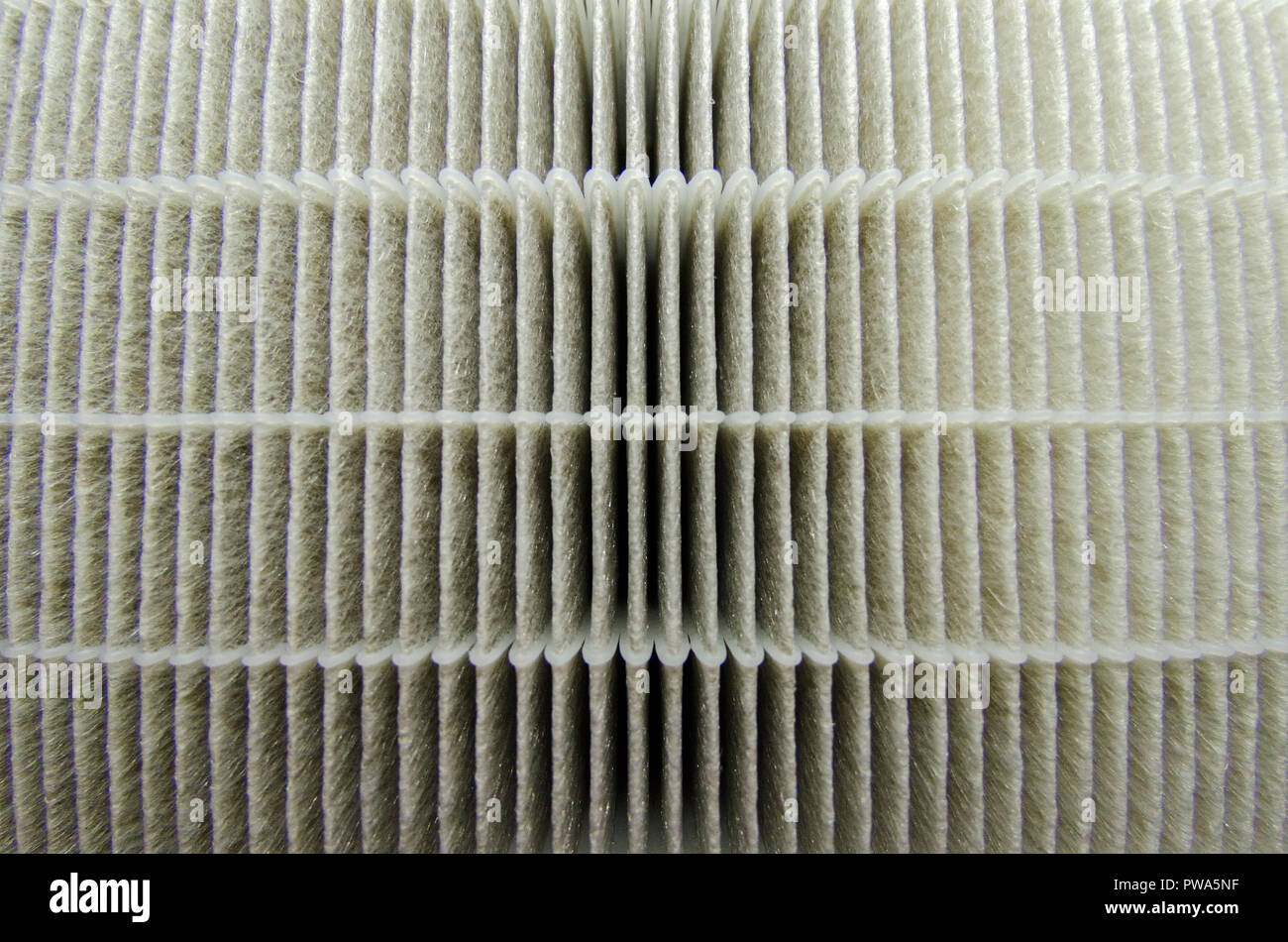 Hepa filter air pollution close up - Stock Image