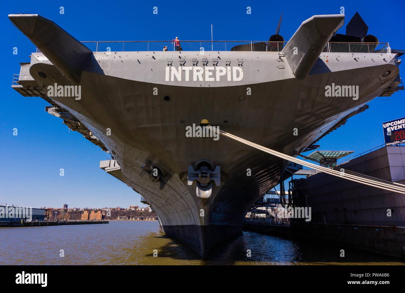 Intrepid Sea, Air & Space Museum Manhattan _ New York, New York, USA - Stock Image
