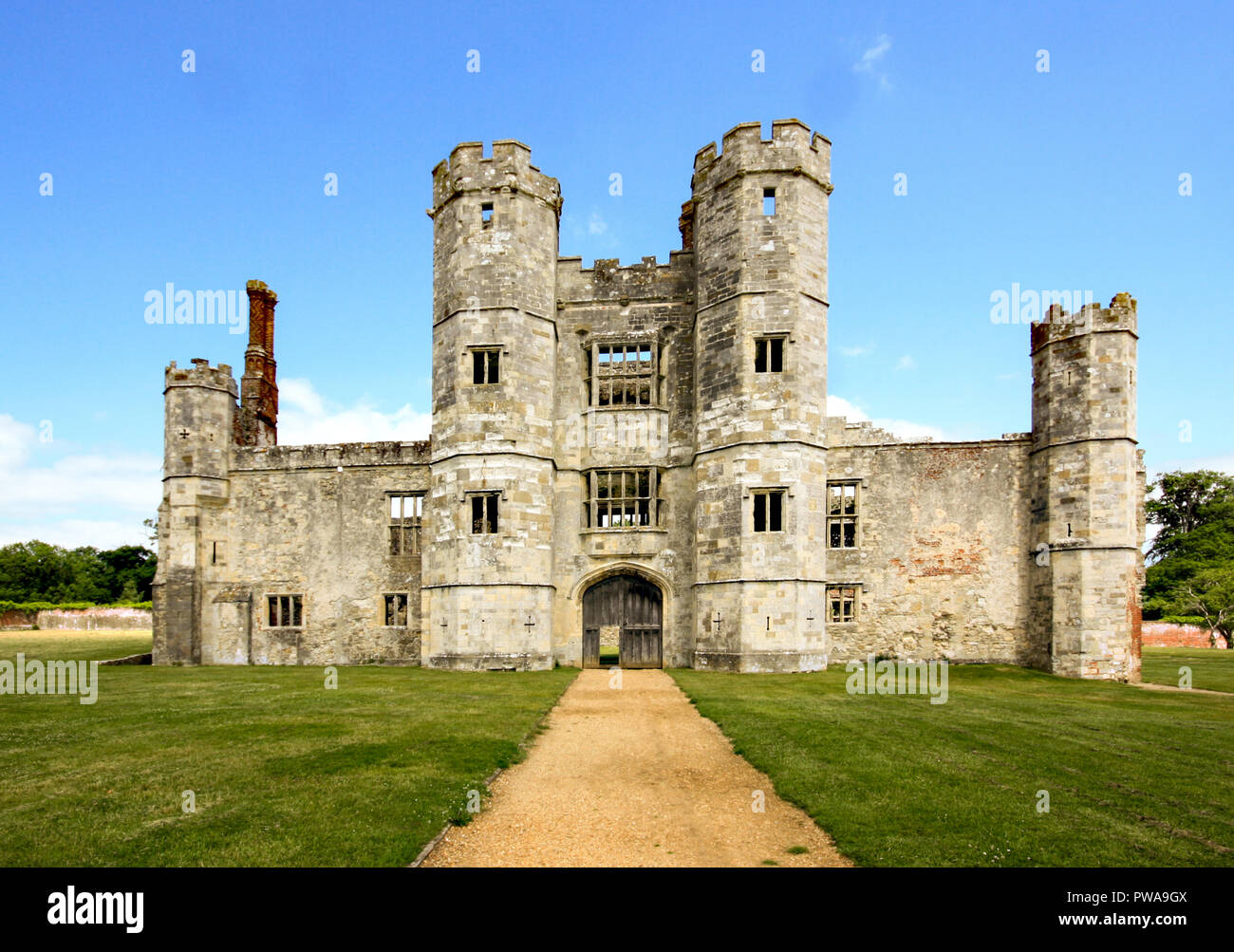 Medieval Titchfield Abbey founded in 1222 an English heritage site located in the village of Titchfield near Fareham in Hampshire, England UK - Stock Image