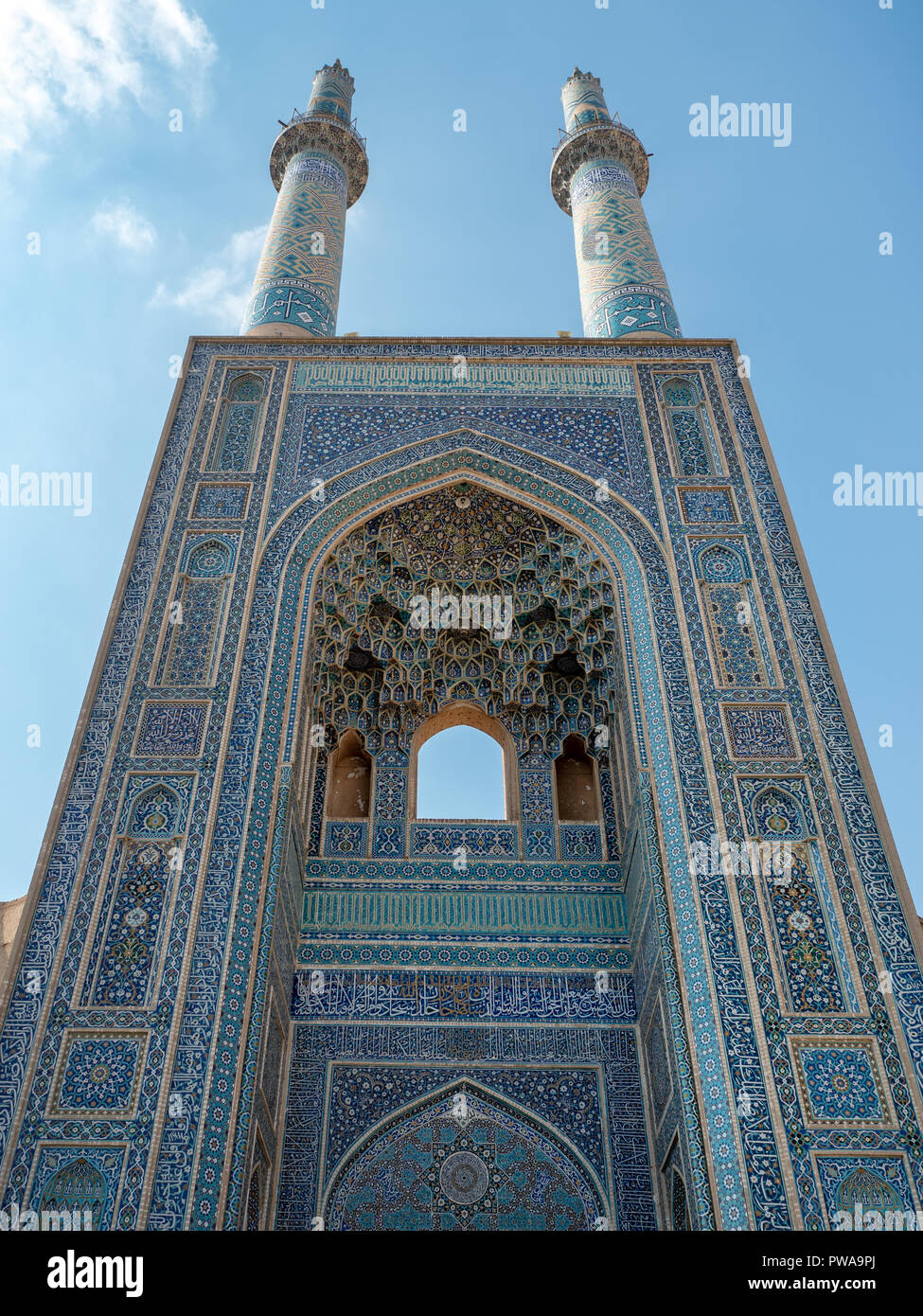 Grand iwan of Jameh mosque, Yazd, Iran - Stock Image
