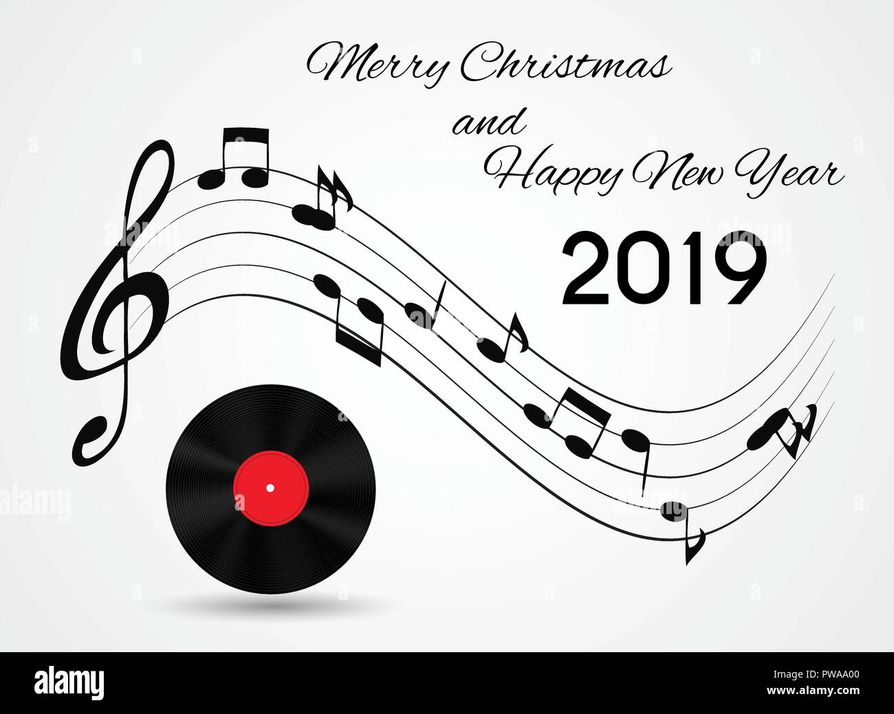 New Christmas Music 2019 2019 Happy New Year and Merry Christmas on Abstract music