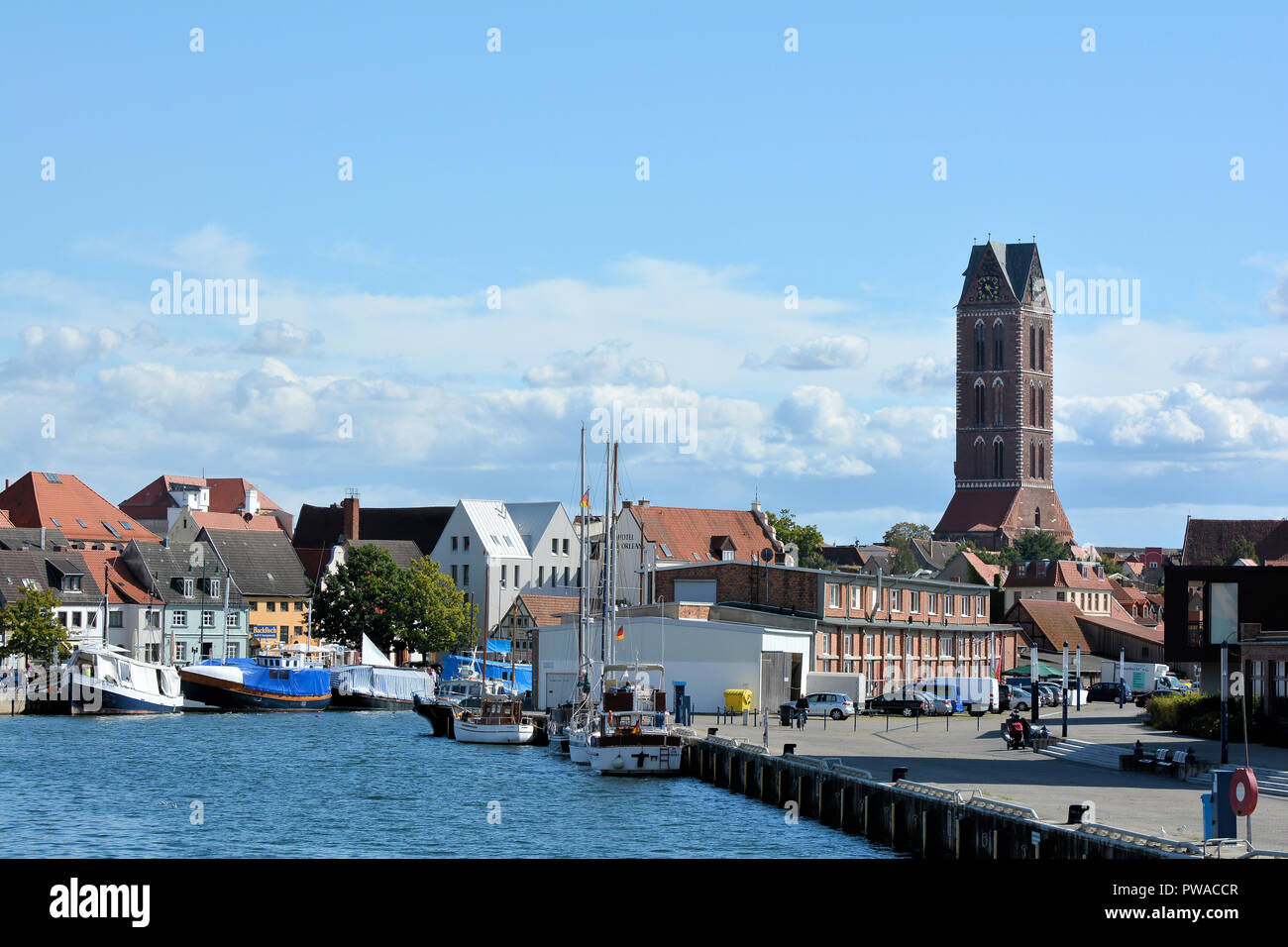 Cityscape of Wismar in Germany - Stock Image
