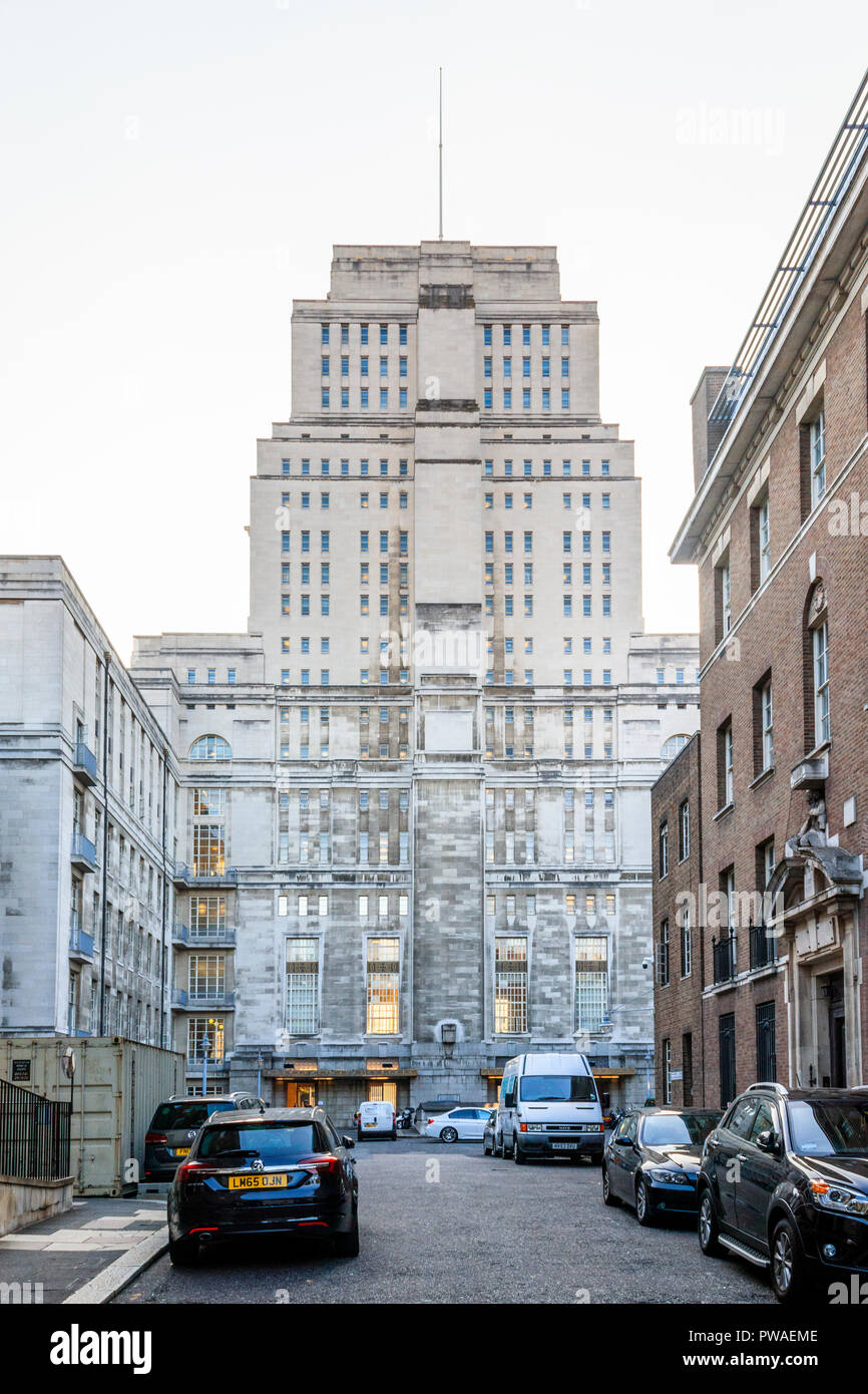 The rear of Senate House, University of London, Russell Square, London, UK Stock Photo