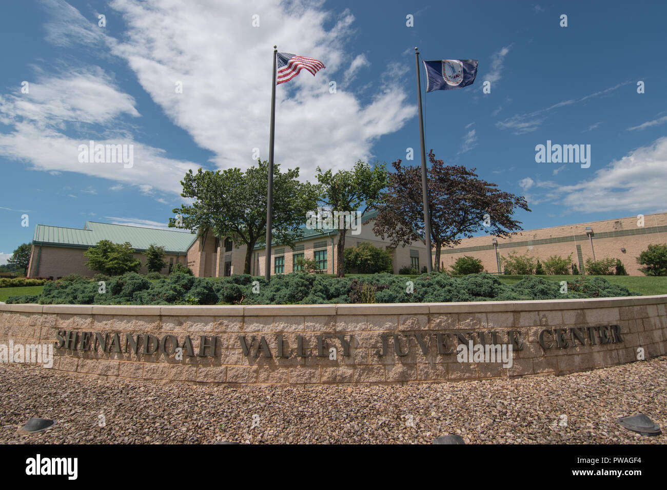 June 24, 2018 Staunton, Virginia USA Shenandoah Valley Juvenile Center alleged abuse scandal of immigrant detainees is looked into by U.S. Office of R - Stock Image