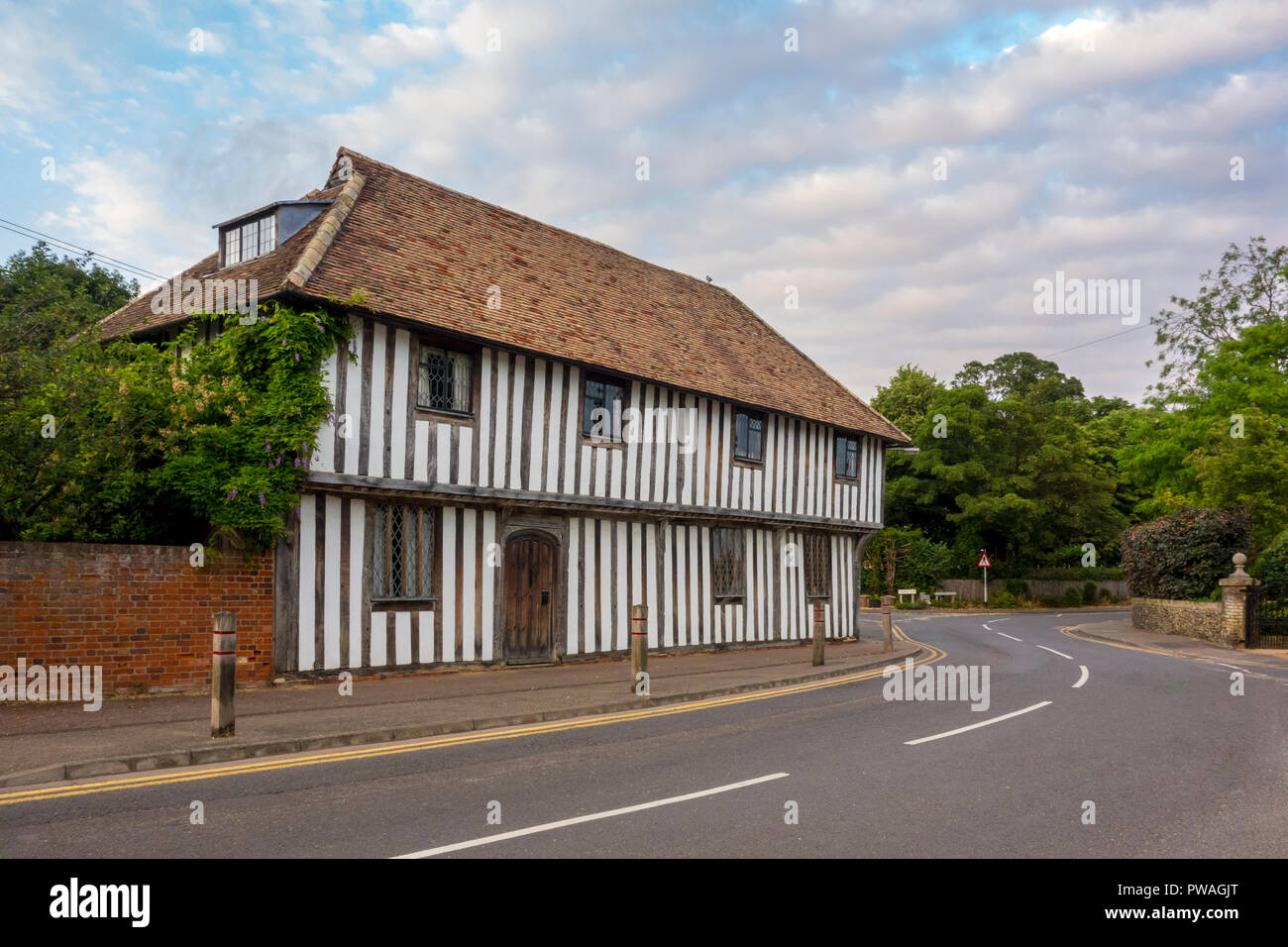 The Guildhall, historic 16th century timber framed building in Whittlesford, Cambridge, South Cambridgeshire, UK - Stock Image