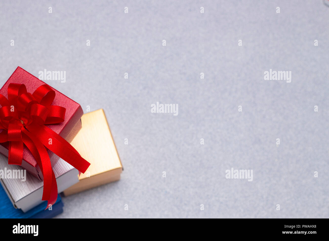 Christmas decorations, cute Gift on beautiful background with copy ...