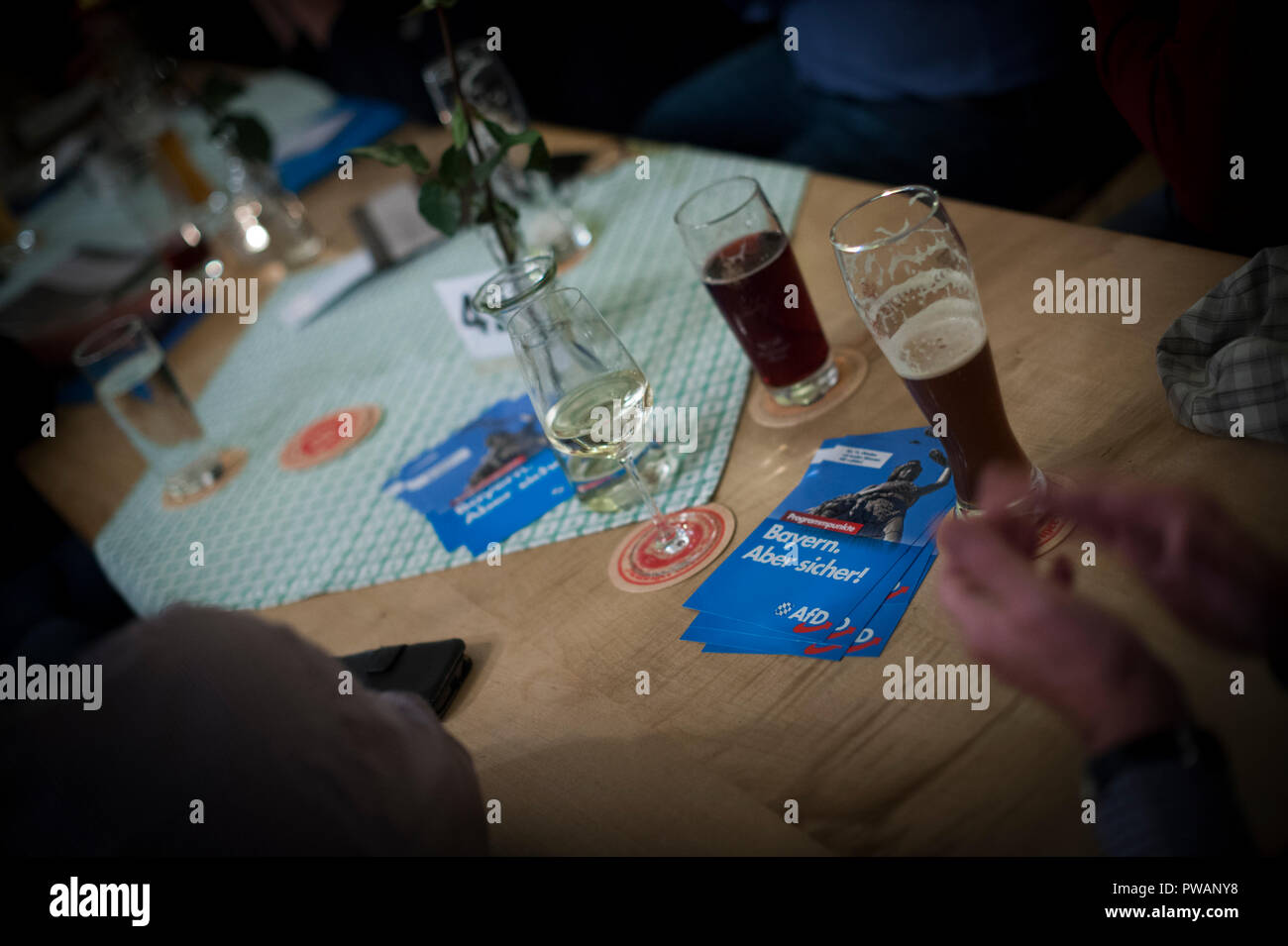 The Bierkeller in Rosenheim, Bavaria where the AfD held a political rally - Stock Image
