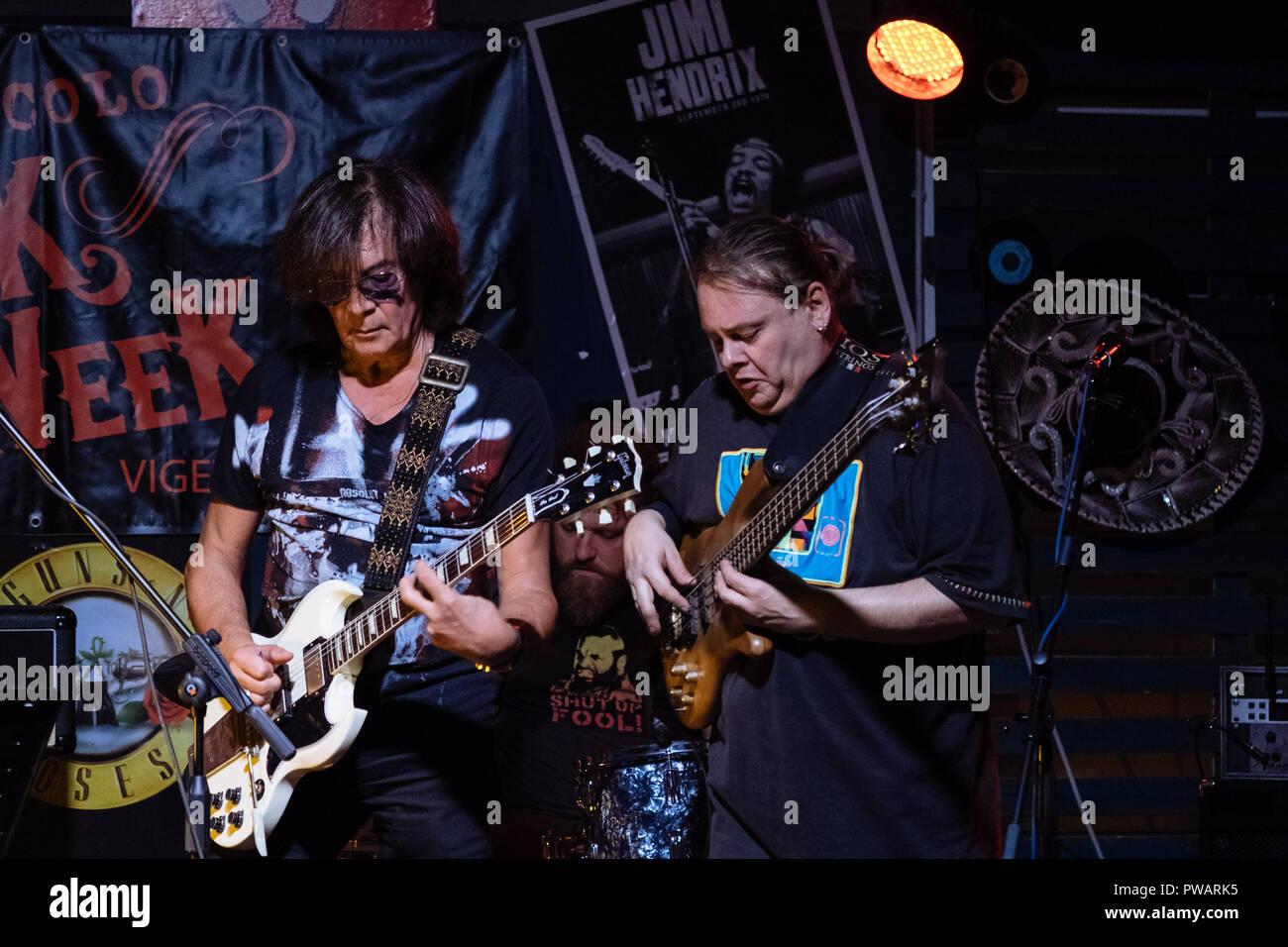Maurizio Solieri, Max Gelsi and Ivano Zanotti - Live in Vigevano Stock Photo