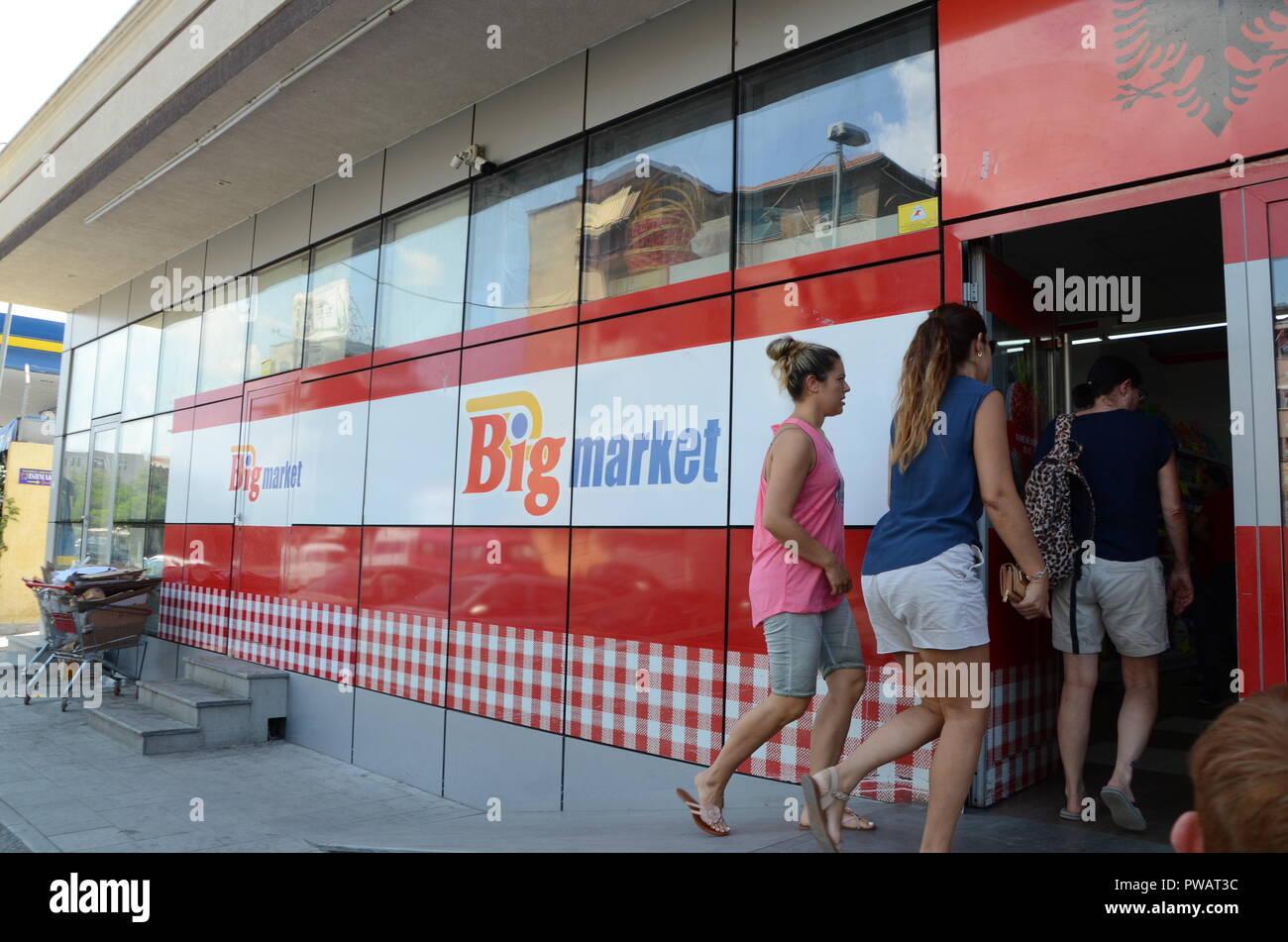 big market supermarket shkoder albania Stock Photo