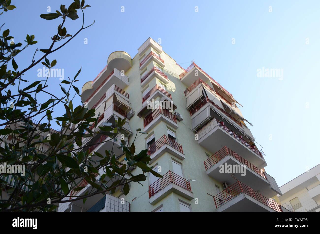 apartment block in tirana albania Stock Photo