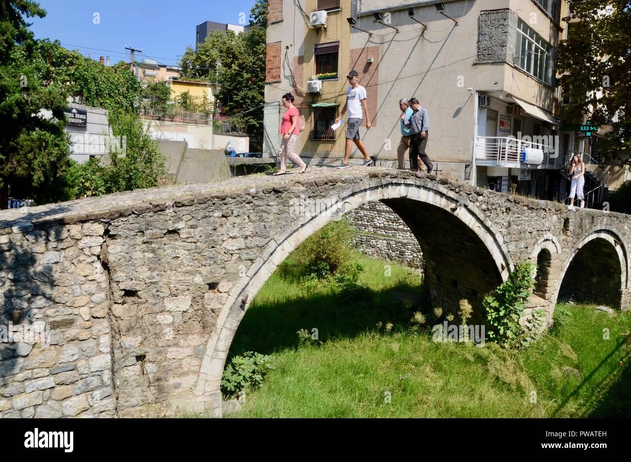 tanners bridge tirana albania; ottoman architecture - Stock Image