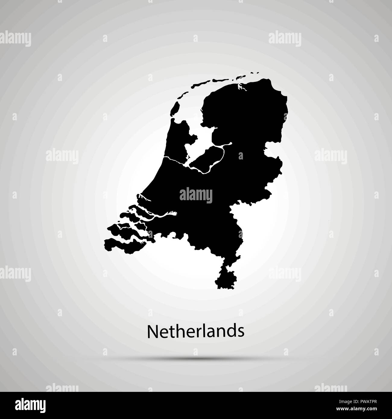 Netherlands Country Map Stock Photos & Netherlands Country Map Stock ...