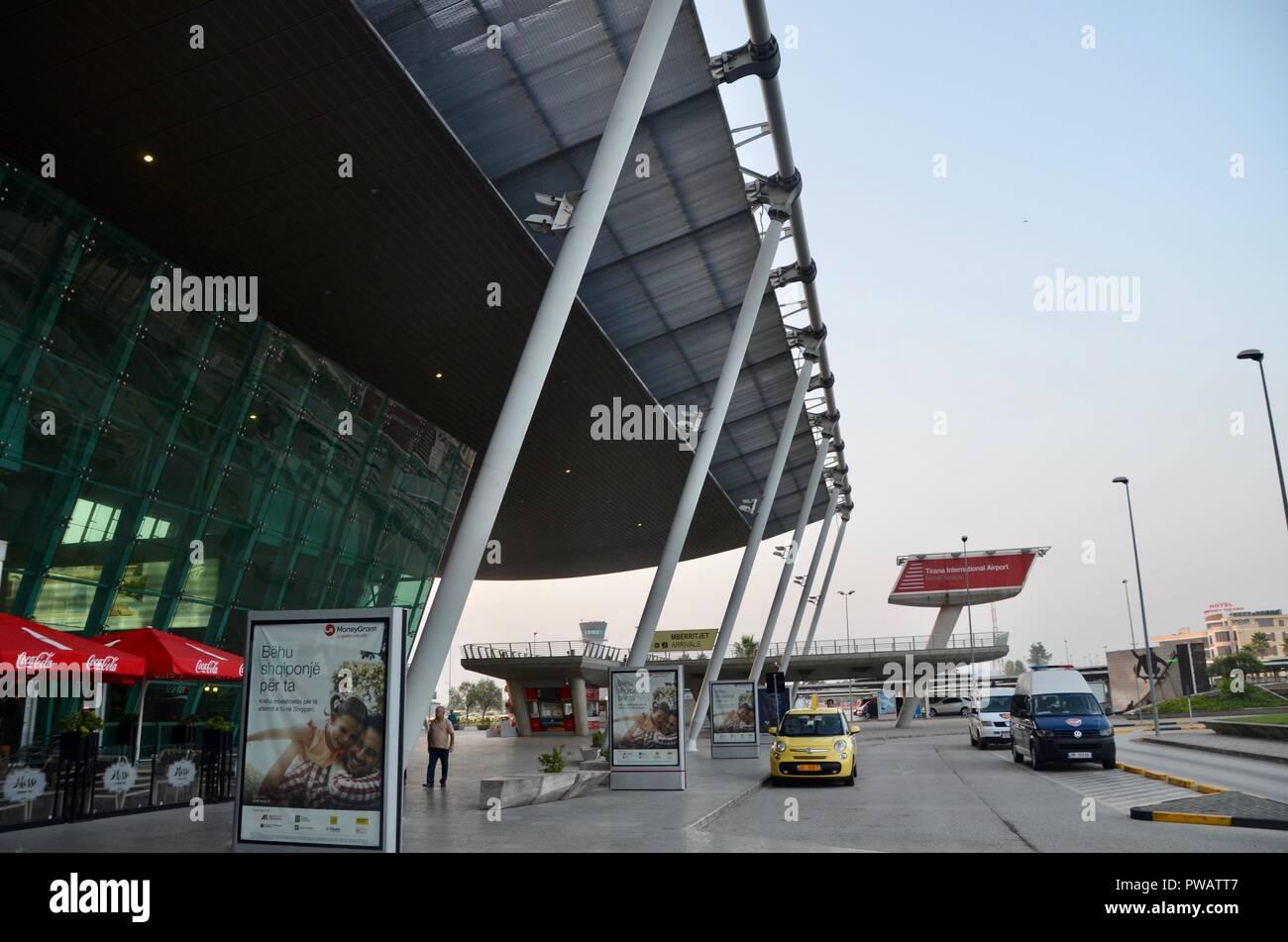tirana international airport terminal exterior albania Stock Photo
