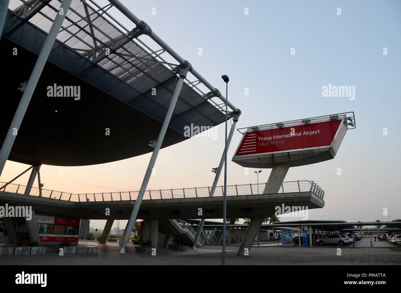 tirana international airport terminal exterior albania - Stock Image