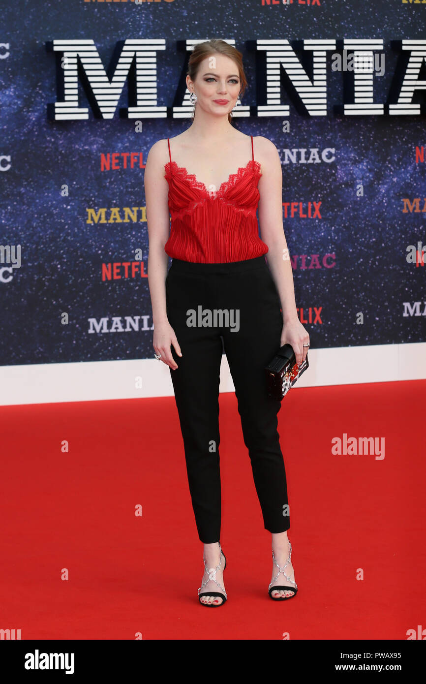The World Premiere of 'Maniac' held at the BFI Southbank - Arrivals  Featuring: Emma Stone Where: London, United Kingdom When: 13 Sep 2018 Credit: Mario Mitsis/WENN.com - Stock Image