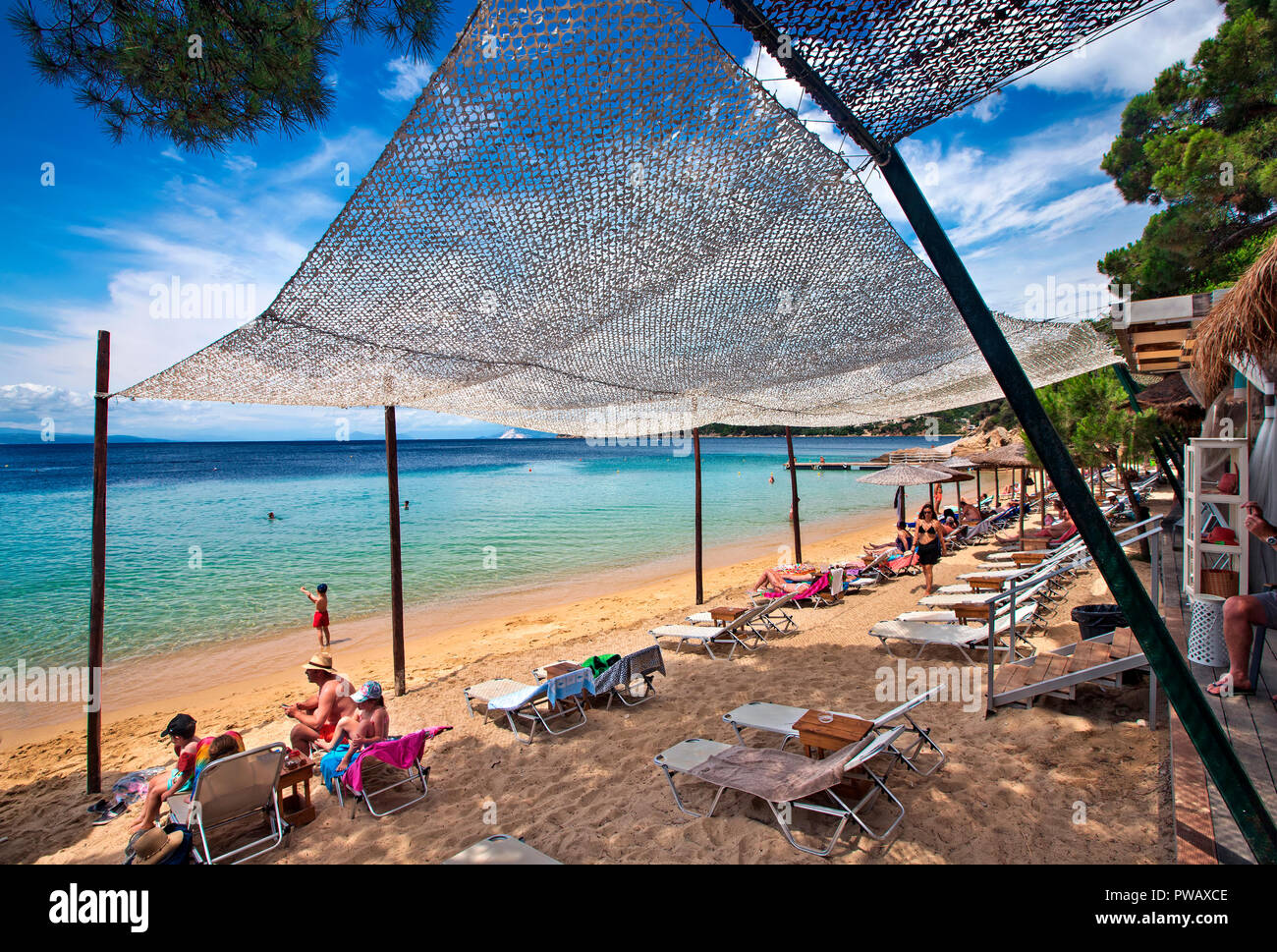Skiathos Beach Bar High Resolution Stock Photography And Images Alamy