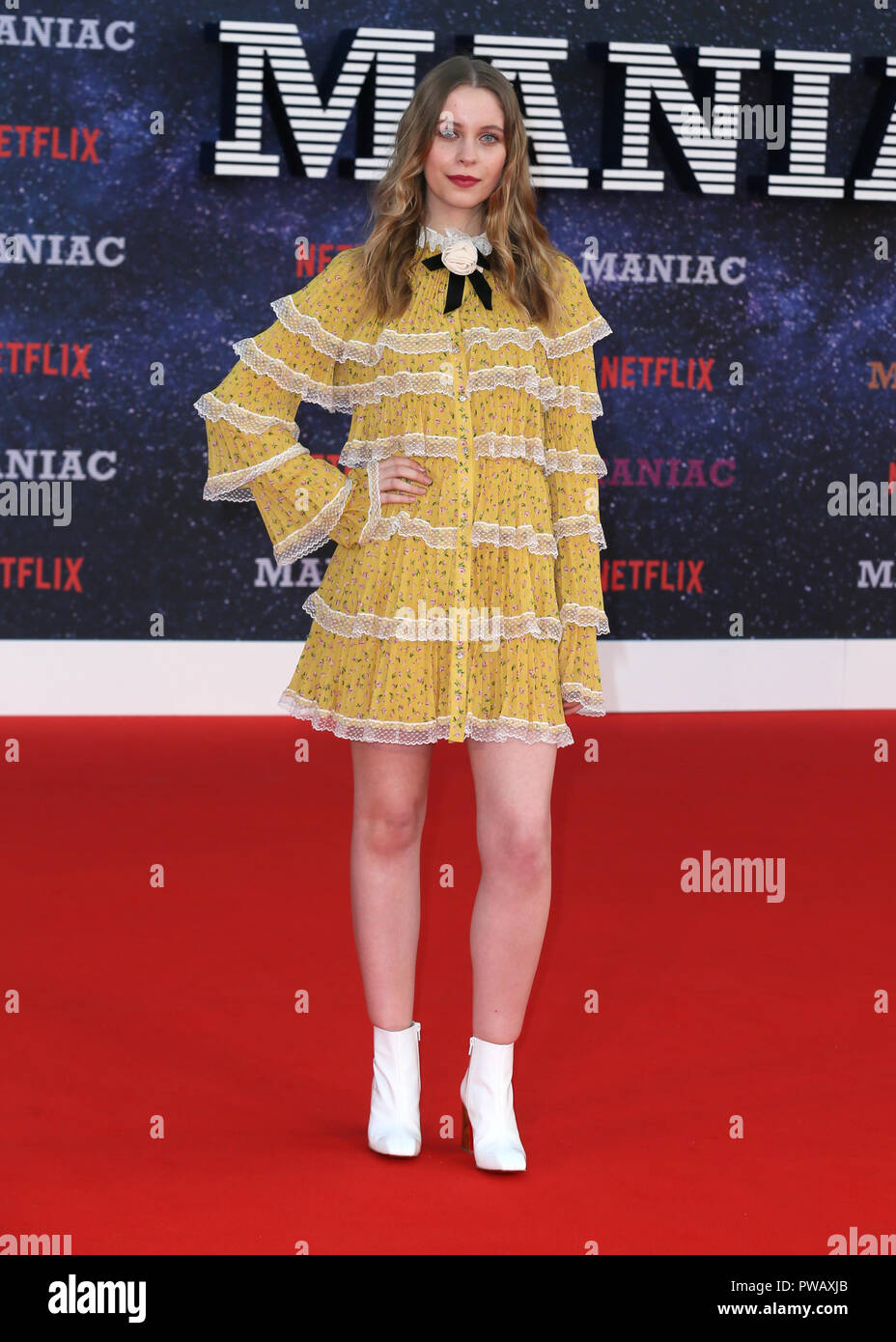 The World Premiere of 'Maniac' held at the BFI Southbank - Arrivals  Featuring: Sorcha Groundsell Where: London, United Kingdom When: 13 Sep 2018 Credit: Mario Mitsis/WENN.com - Stock Image