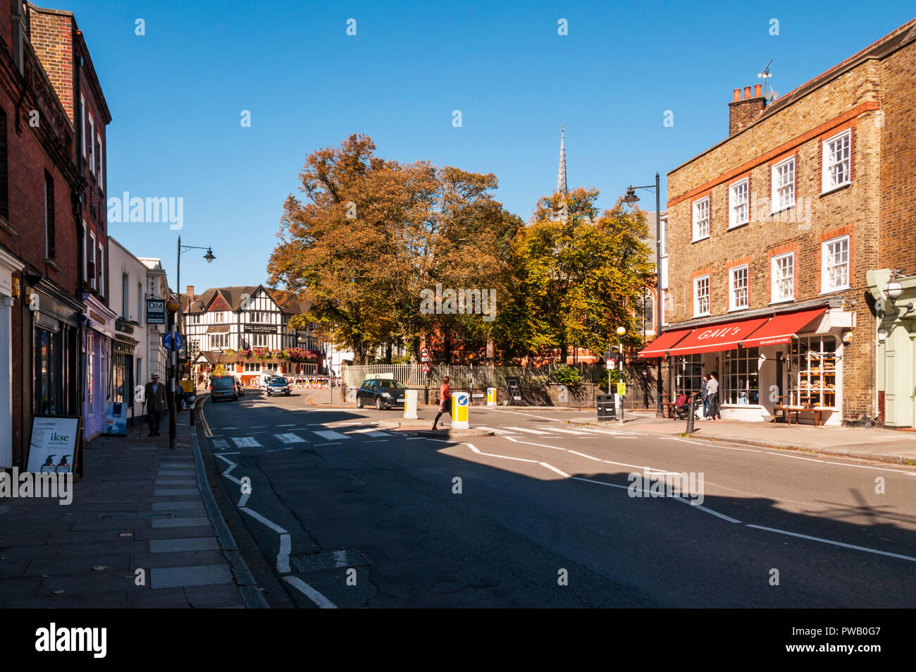 High Street, Highgate Village. - Stock Image