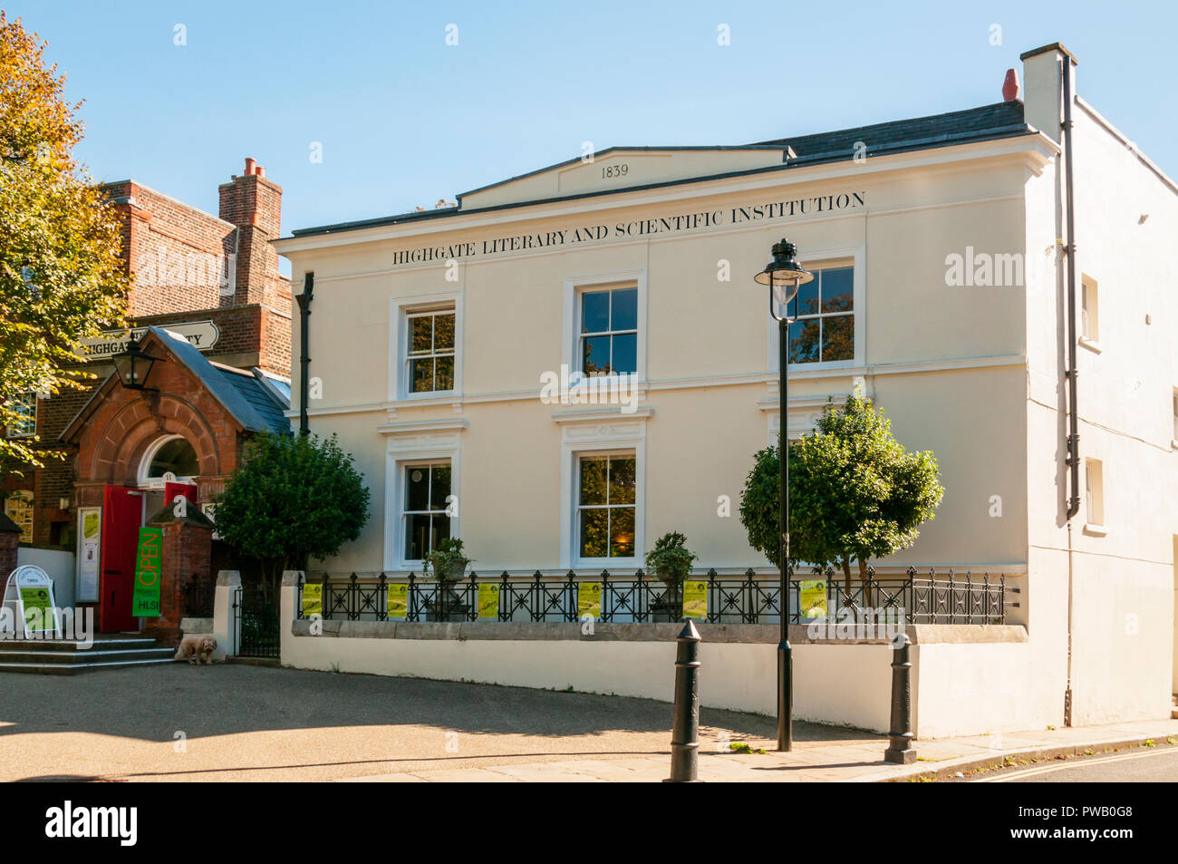 Highgate Literary and Scientific Institution. - Stock Image