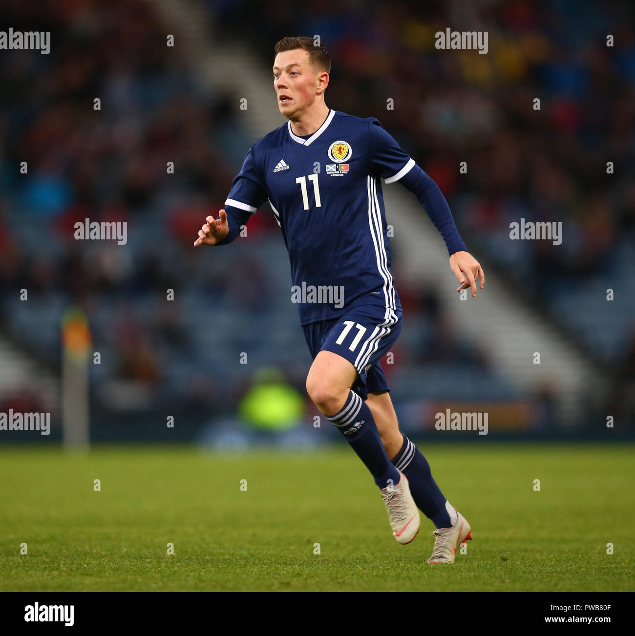 Hampden Park, Glasgow, UK. 14th Oct, 2018. International Football Friendly, Scotland versus Portugal; Callum McGregor of Scotland Credit: Action Plus Sports/Alamy Live News - Stock Image