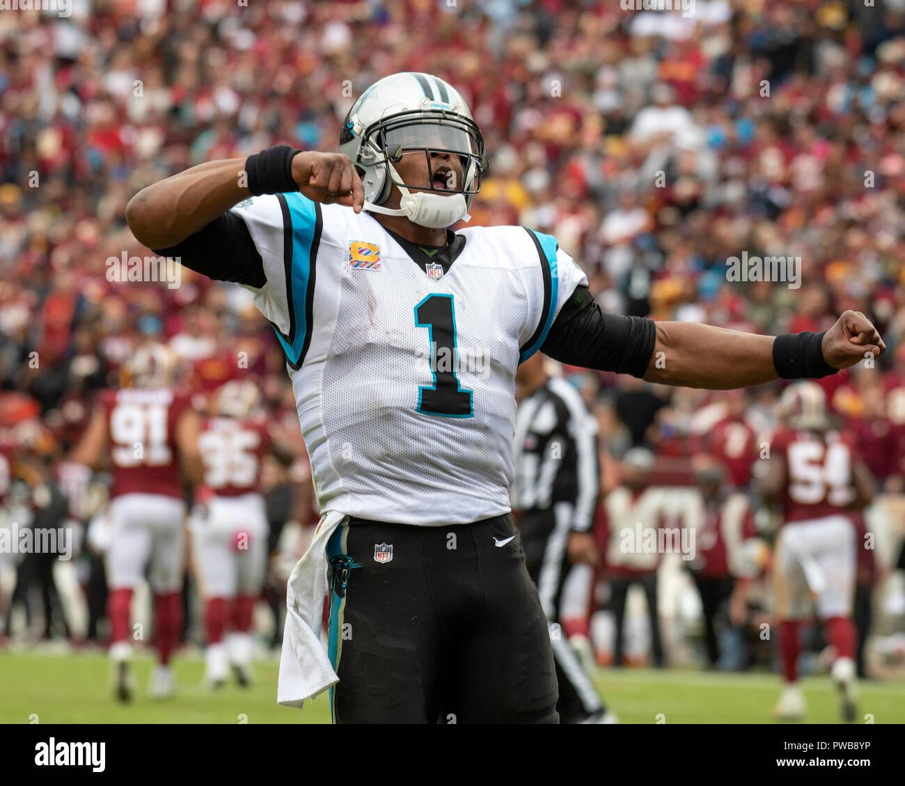 Carolina Panthers quarterback Cam Newton (1) celebrates