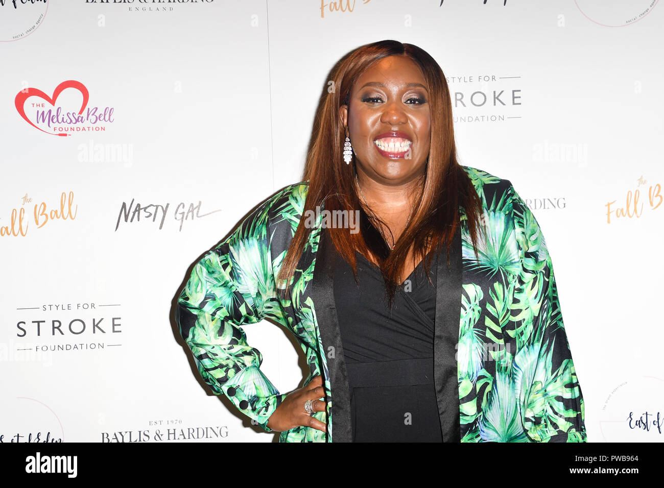 London, UK. 14th Oct, 2018. Chizzy Akudolu attends gala dinner and concert to raise money and awareness for the Melissa Bell Foundation and Style For Stroke Foundation. 14 October 2018. Credit: Picture Capital/Alamy Live News Stock Photo